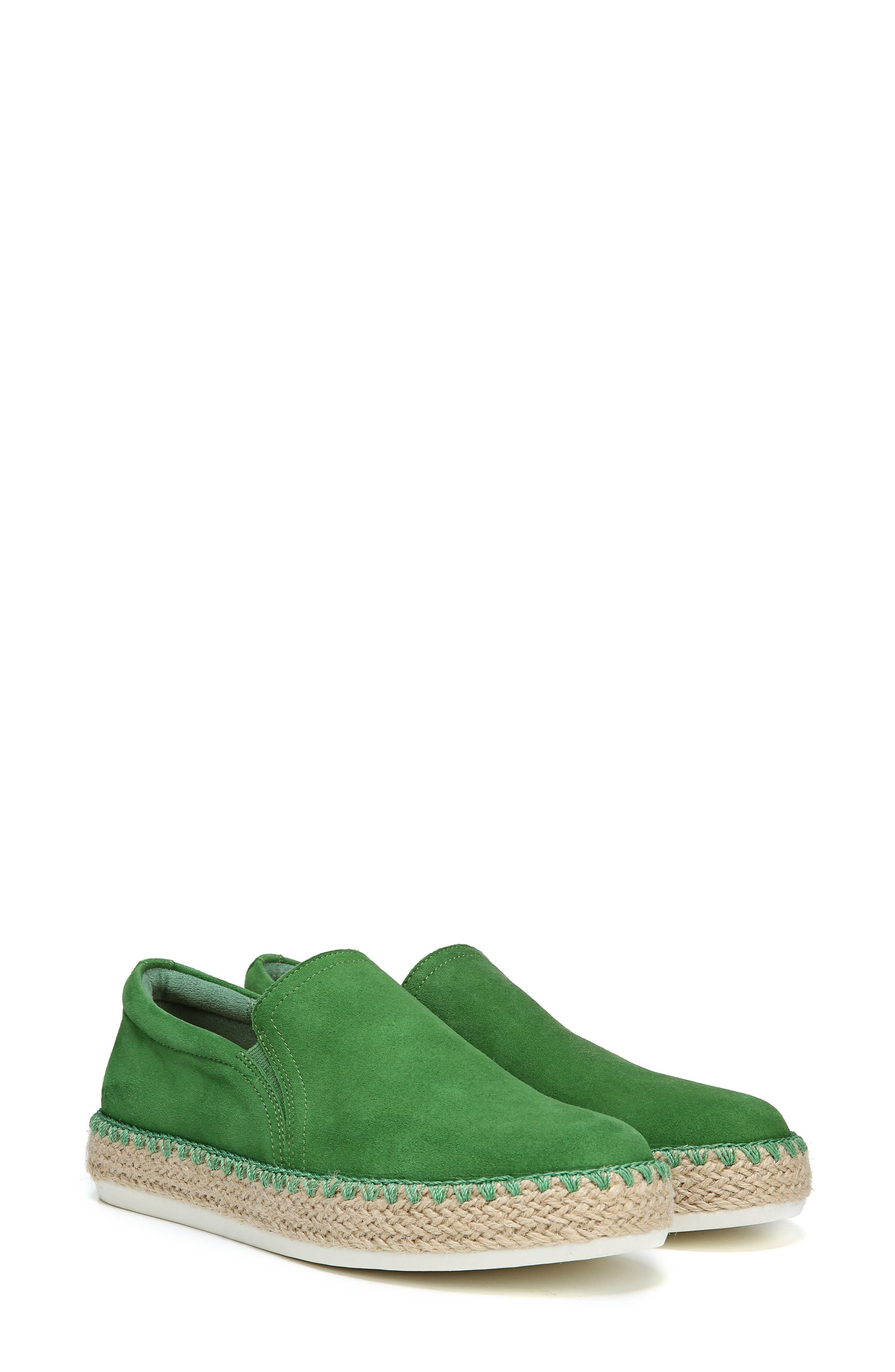 Sunnie Slip-On Sneaker,                             Main thumbnail 1, color,                             GREEN SUEDE