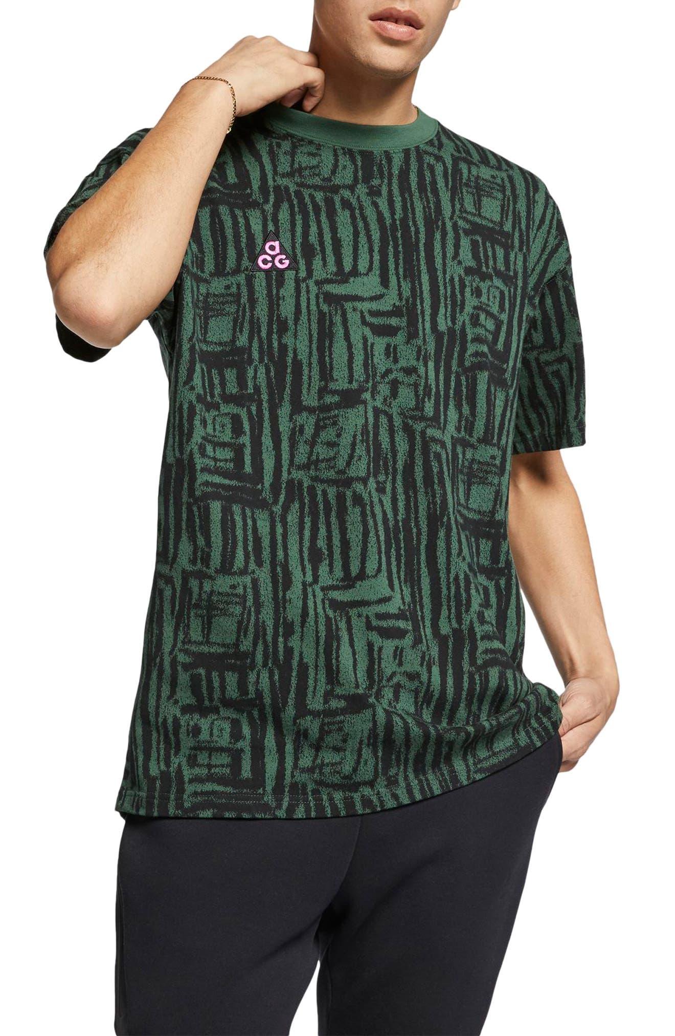 Nike Nrg All Conditions Gear Print Logo T-Shirt, Green