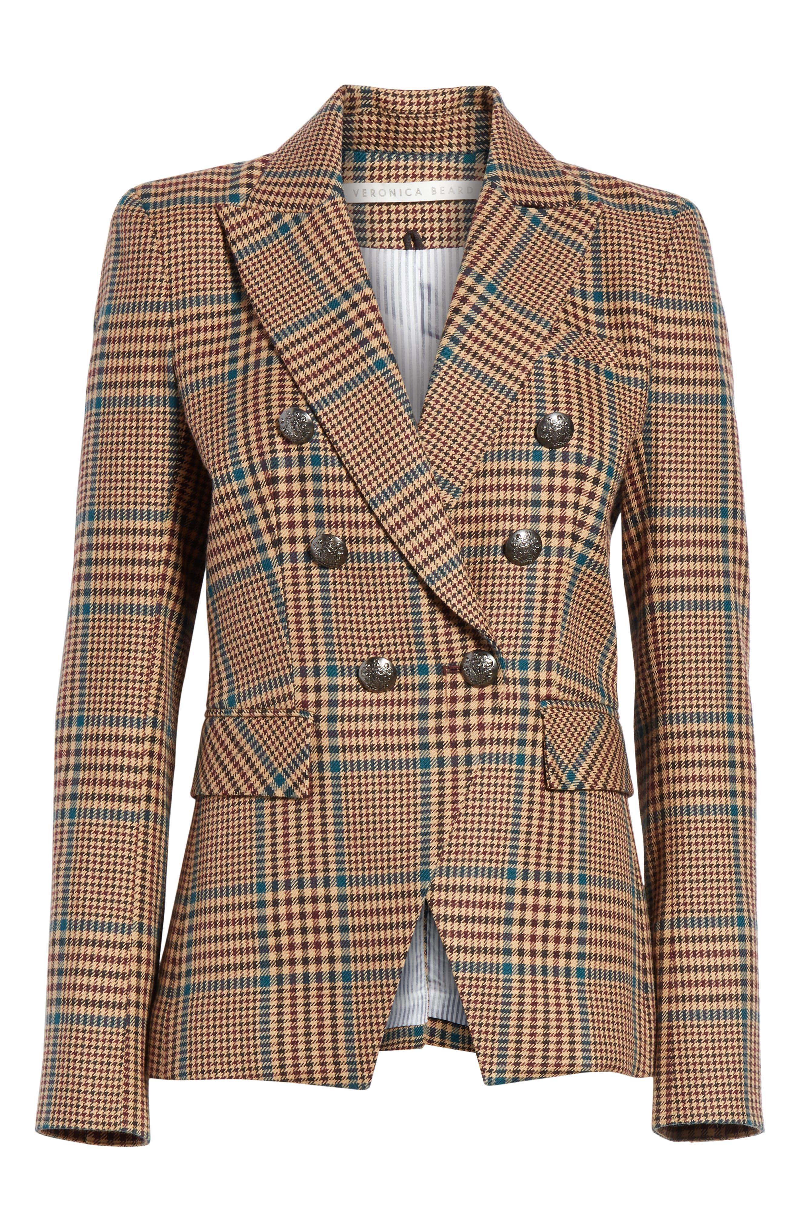 Miller Wool Blend Dickey Jacket,                             Alternate thumbnail 6, color,                             PETROL MULTI
