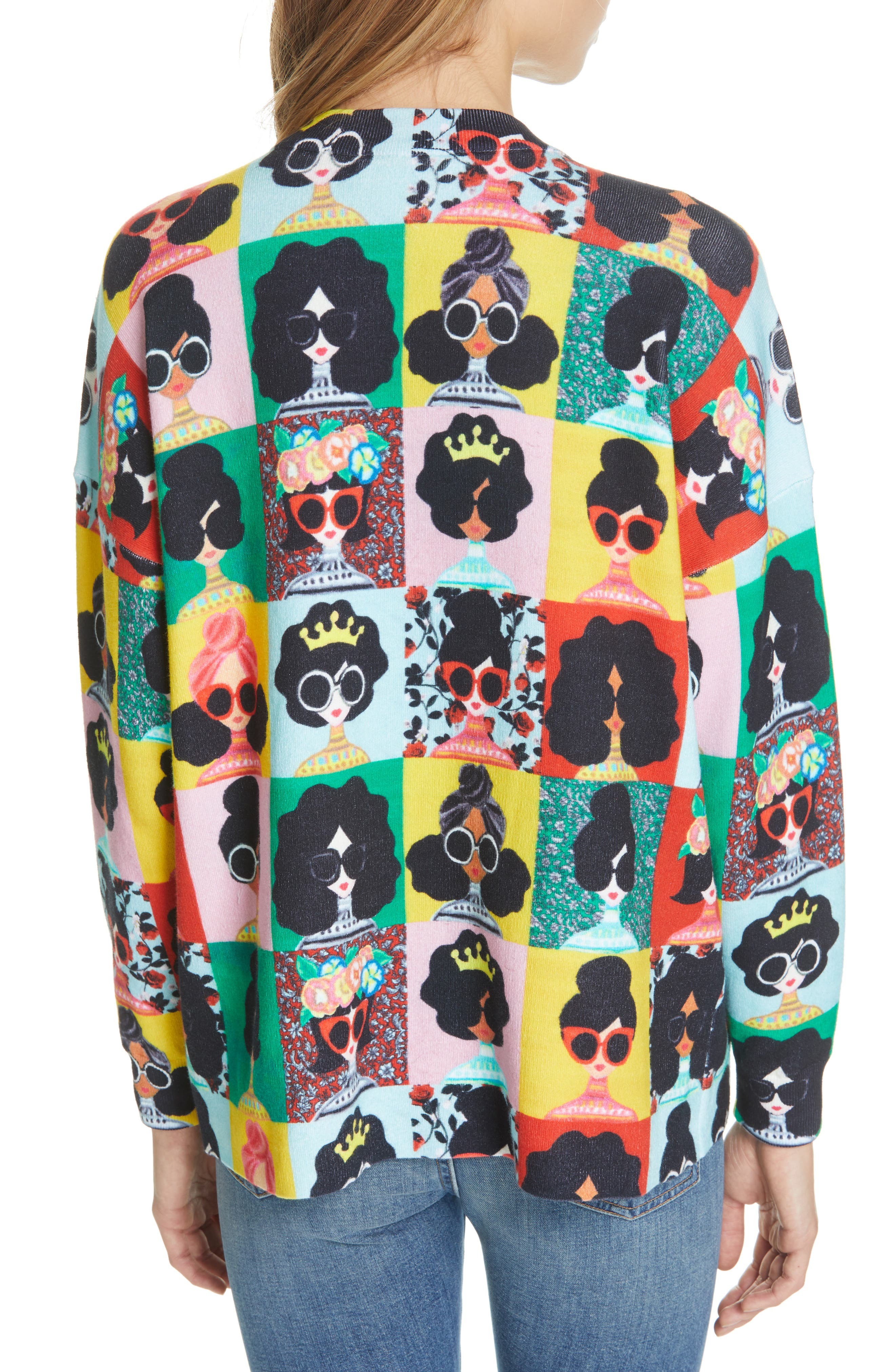 ALICE + OLIVIA,                             Print Pullover,                             Alternate thumbnail 2, color,                             MULTI