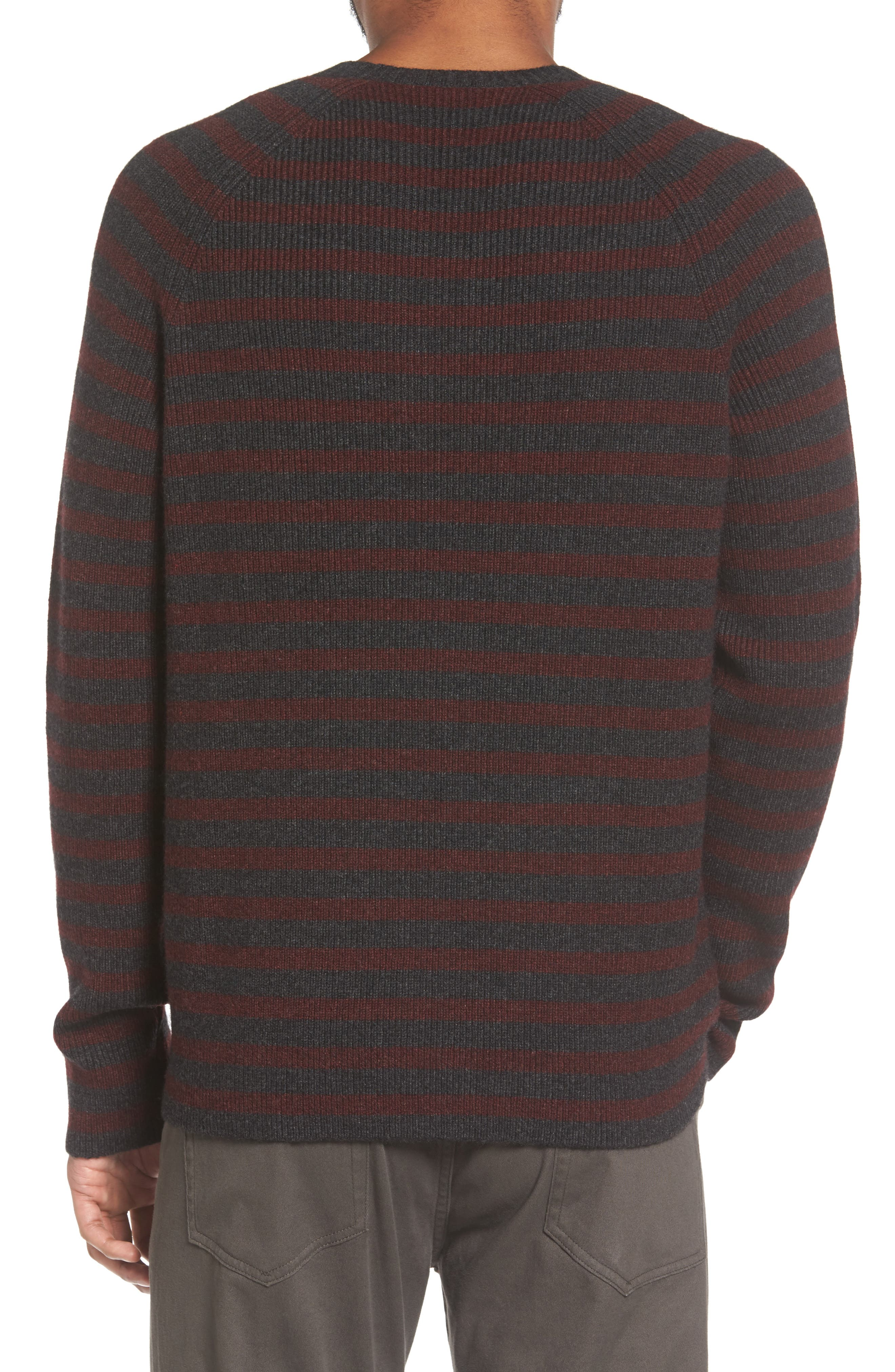 Stripe Wool & Cashmere Sweater,                             Alternate thumbnail 2, color,                             093