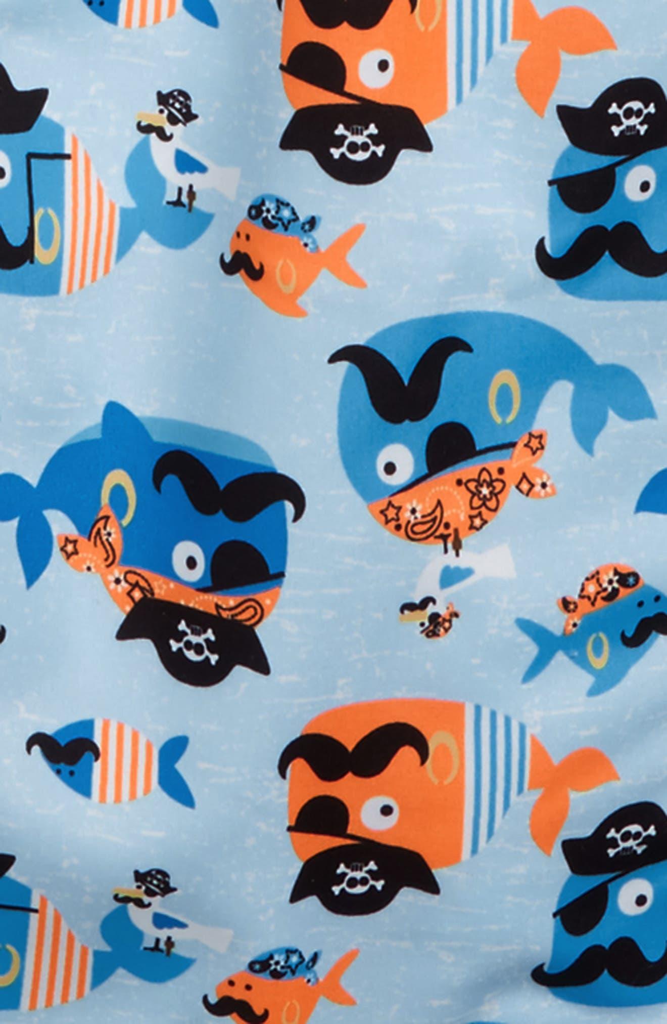 SOL SWIM,                             Ahoy Mateys Two-Piece Rashguard Swimsuit,                             Alternate thumbnail 2, color,                             400