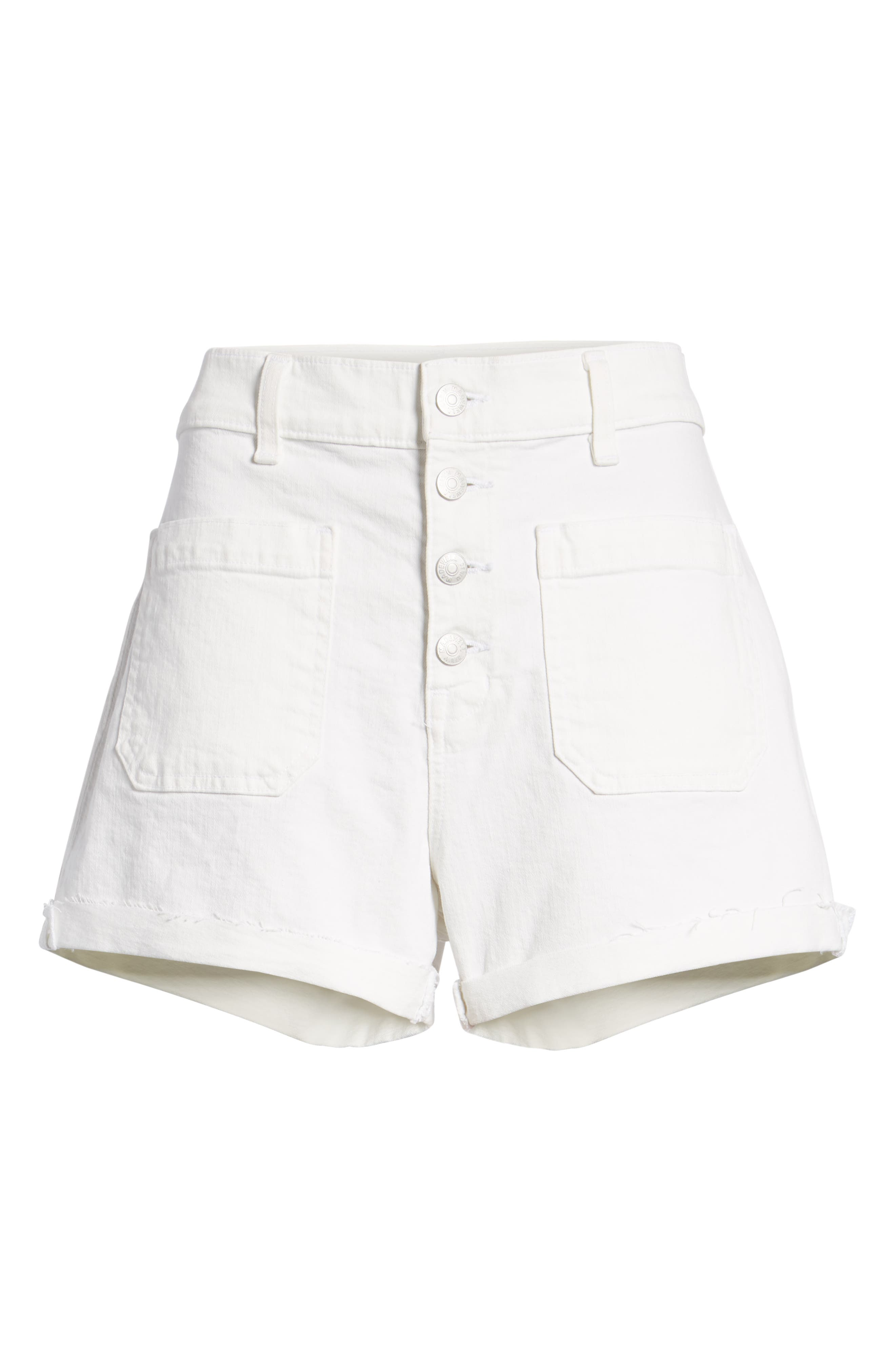 Denim Shorts,                             Alternate thumbnail 4, color,                             TILE WHITE