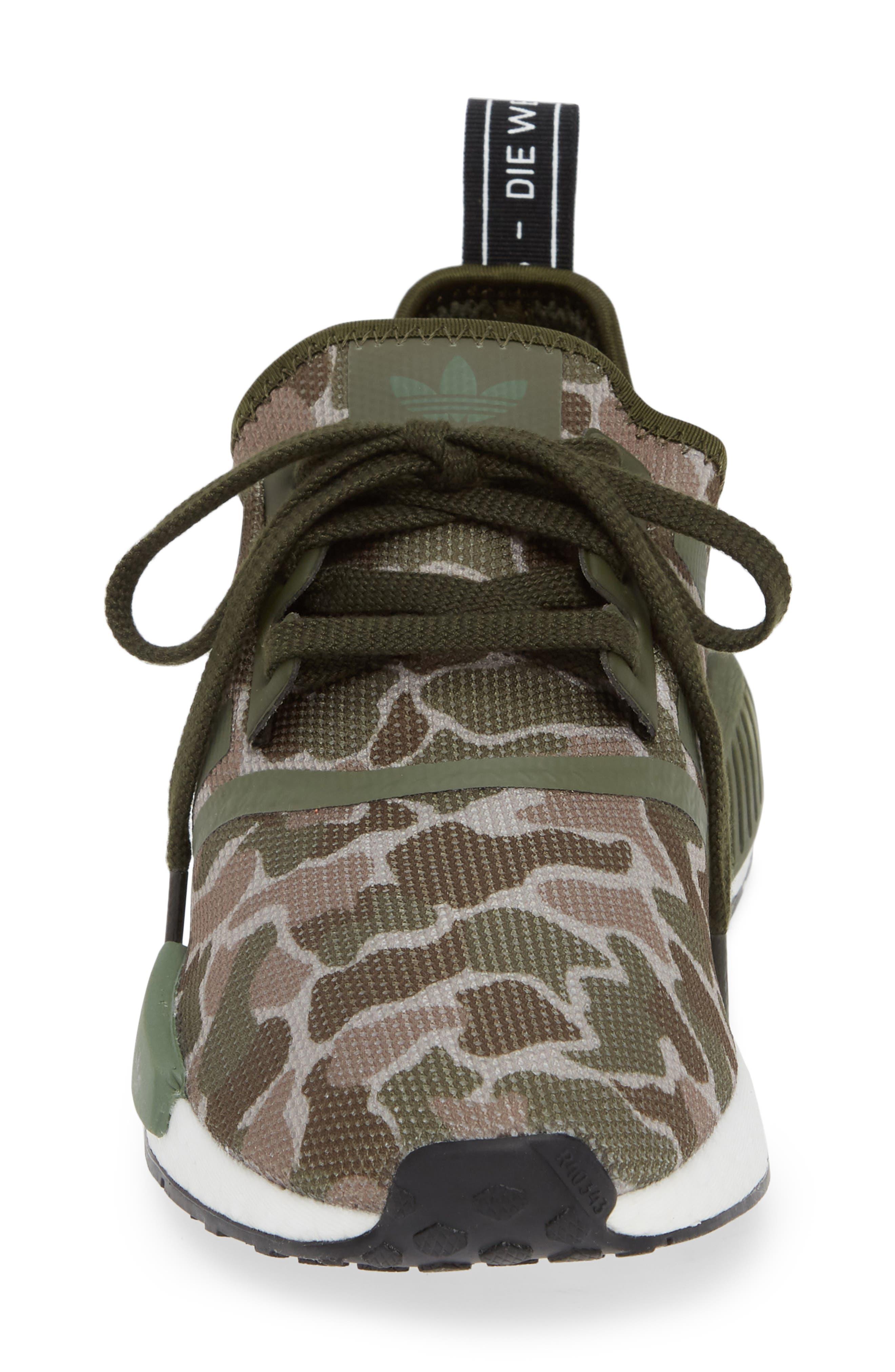 NMD R1 Camo Sneaker,                             Alternate thumbnail 4, color,                             305