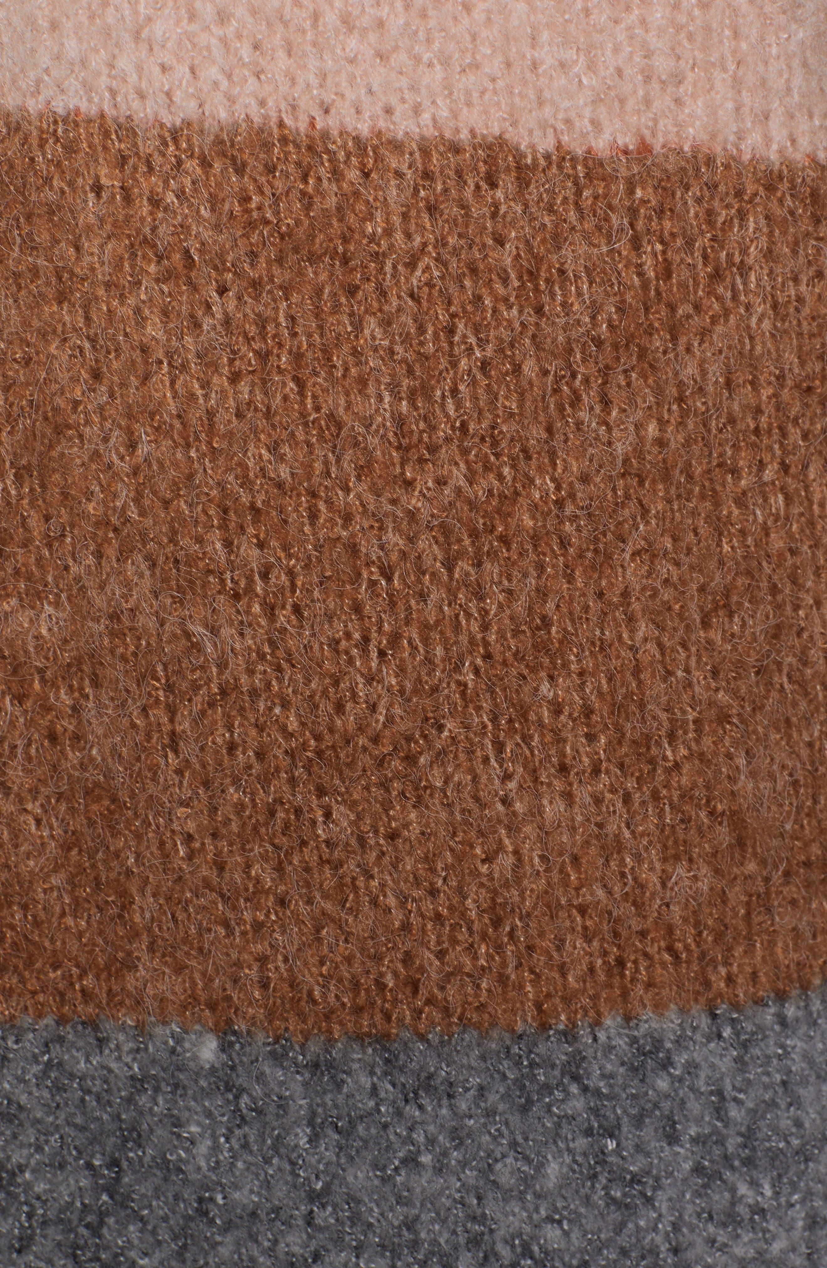 Stripe Long Cardigan,                             Alternate thumbnail 5, color,                             001
