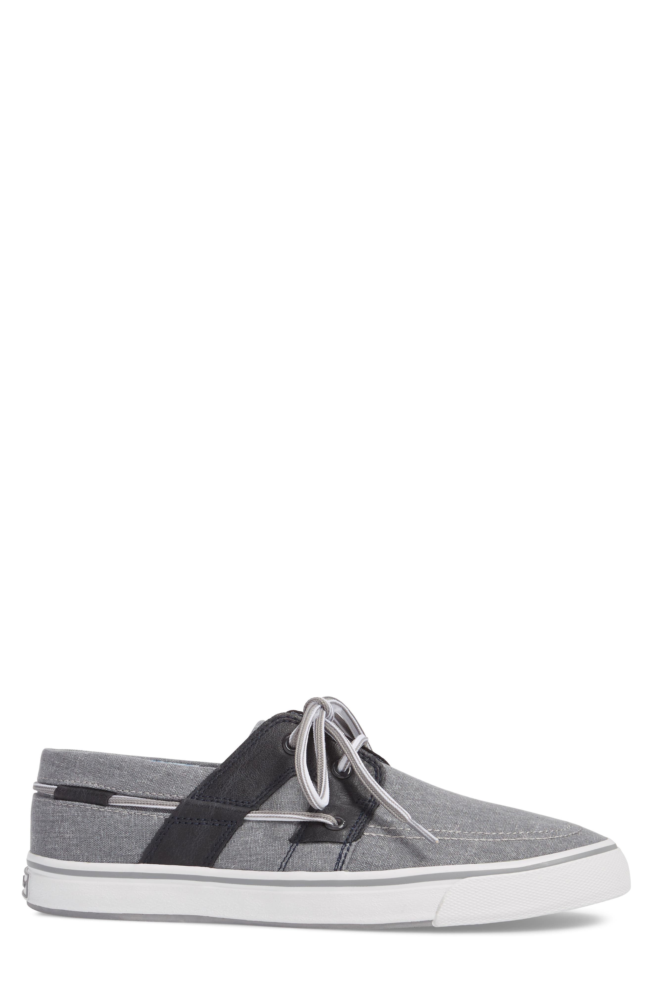 Stripe Breaker Sneaker,                             Alternate thumbnail 3, color,                             GREY/ BLACK LINEN/ LEATHER