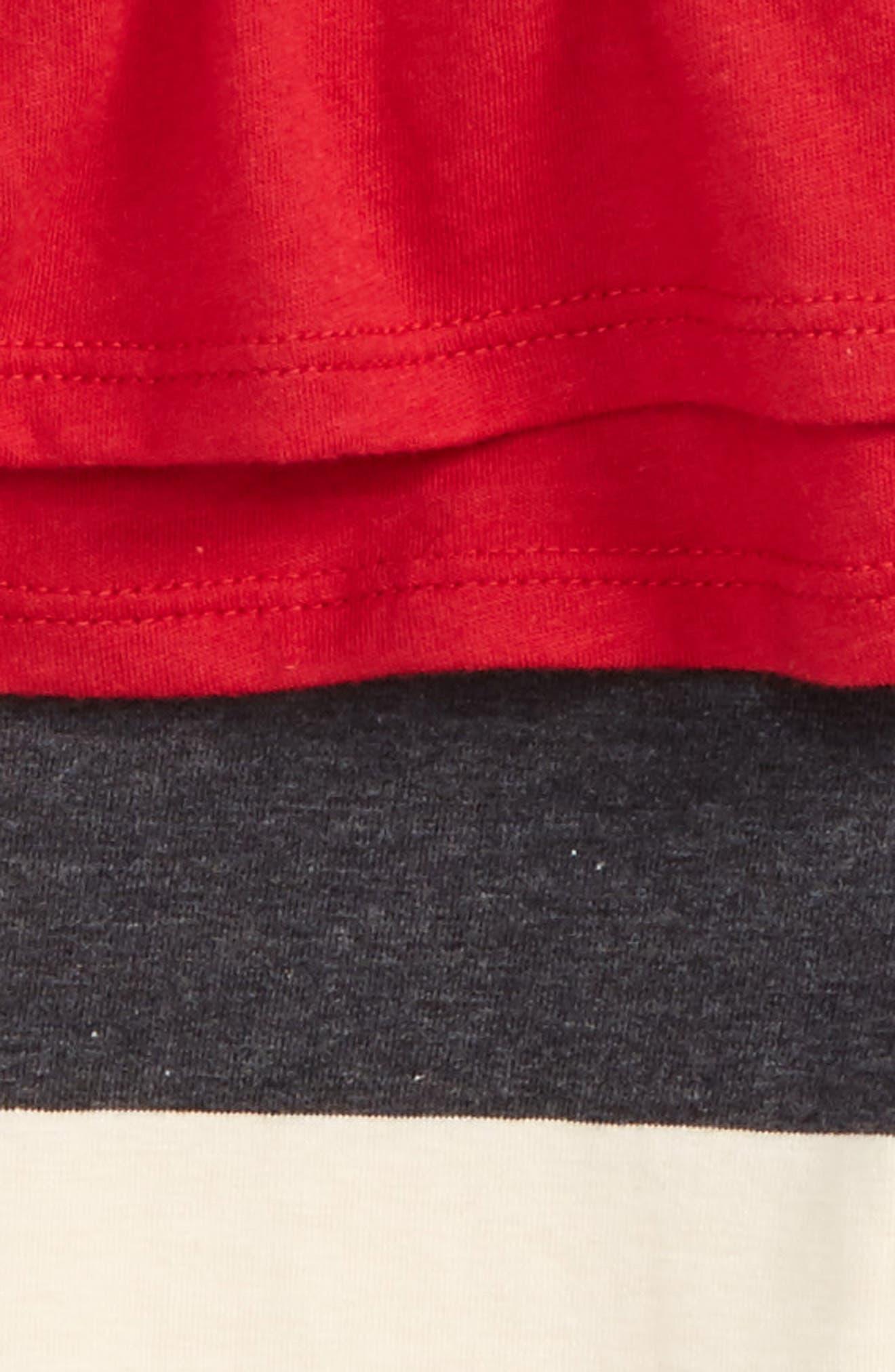 Thermal Ruffle Skater Dress & Leggings Set,                             Alternate thumbnail 4, color,