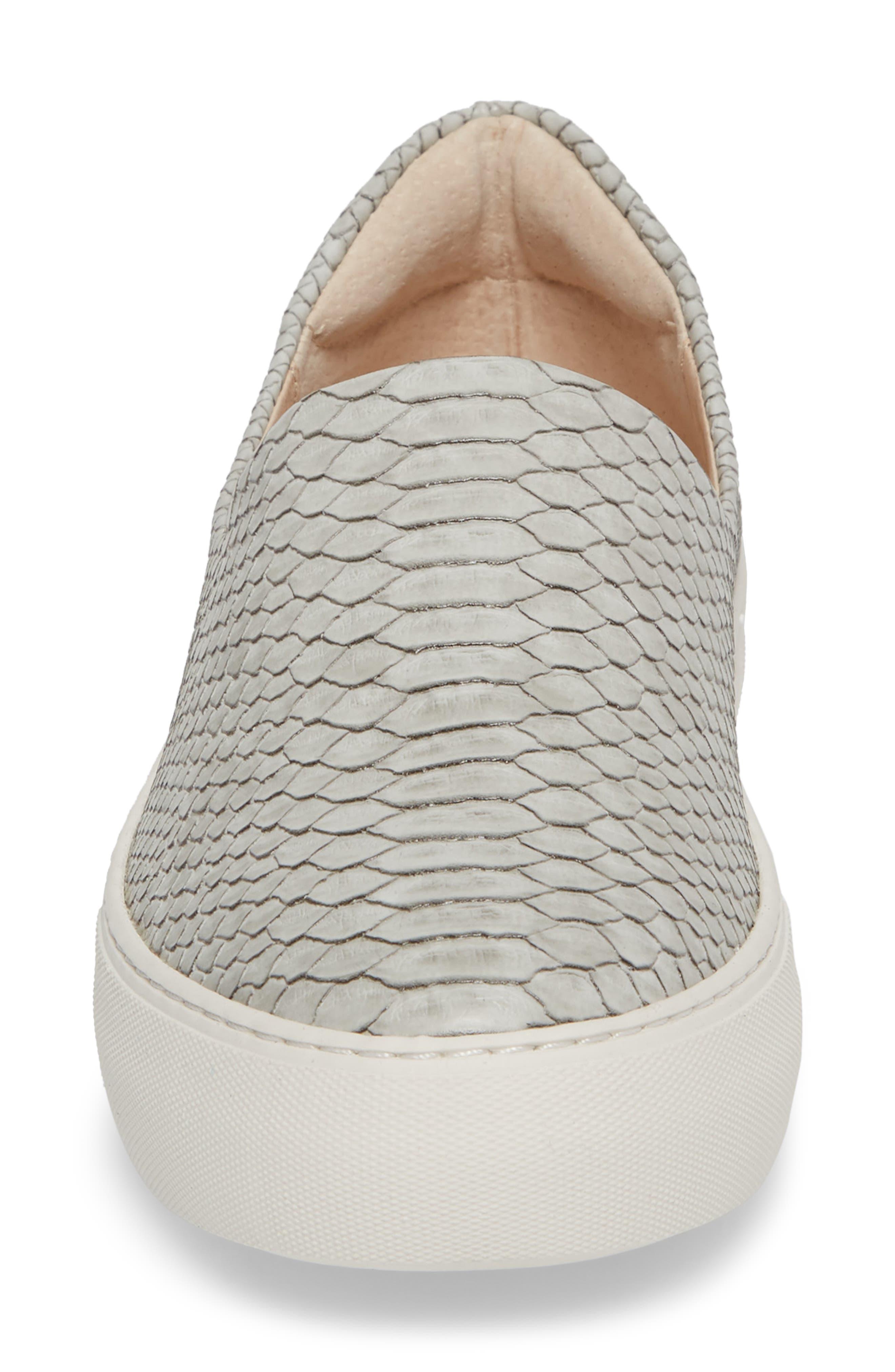 'Ariana' Platform Sneaker,                             Alternate thumbnail 4, color,                             LIGHT GREY EMBOSSED