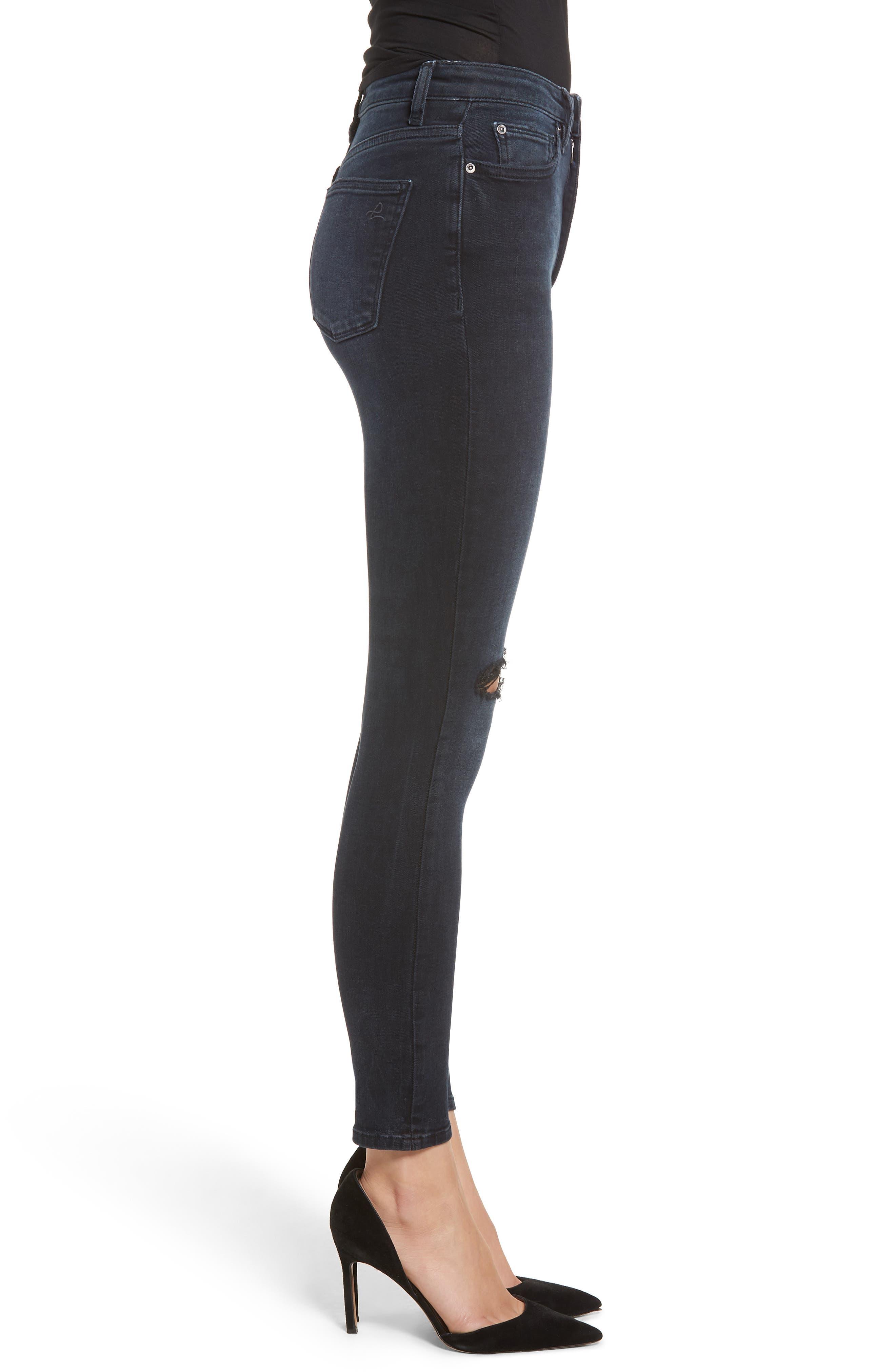 Chrissy Ultra High Waist Ankle Skinny Jeans,                             Alternate thumbnail 3, color,                             PORTER