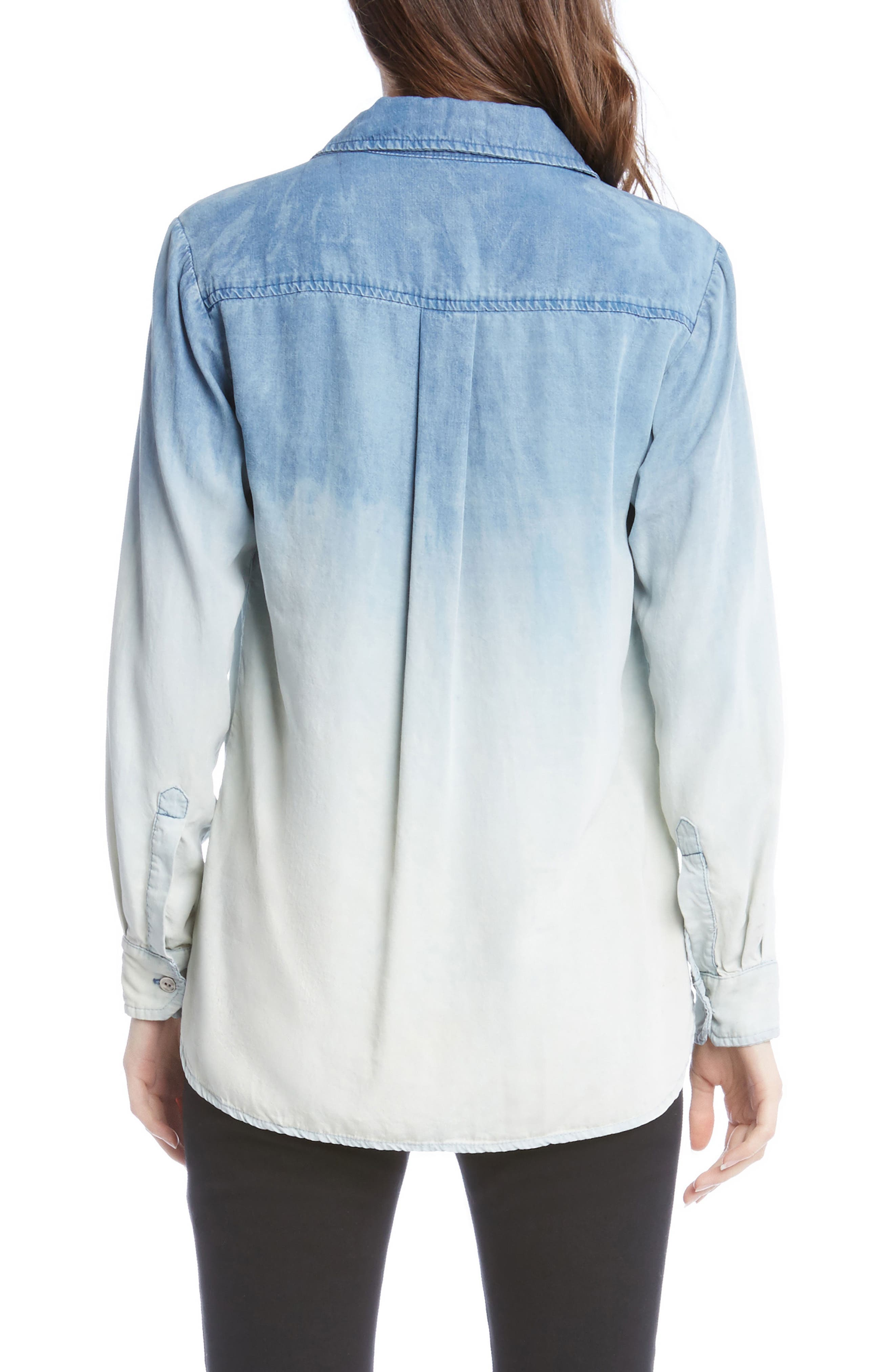 Ombré Chambray Shirt,                             Alternate thumbnail 2, color,