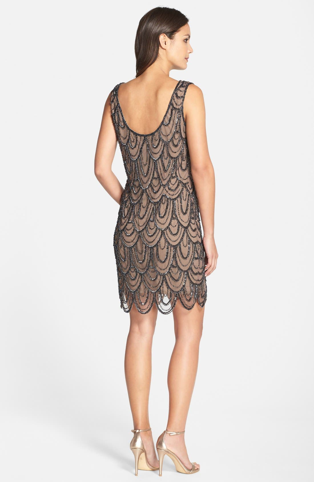 Embellished Mesh Sheath Dress,                             Alternate thumbnail 56, color,