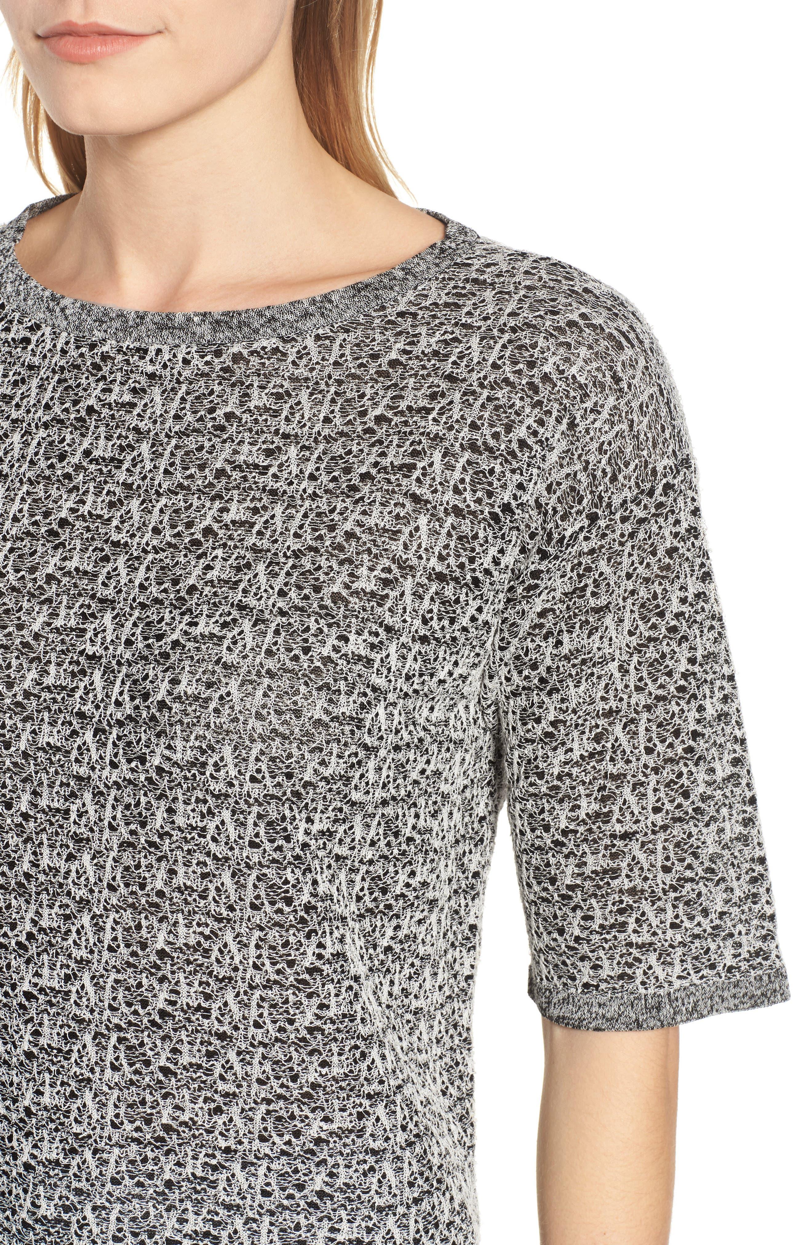Organic Linen Blend Knit Top,                             Alternate thumbnail 4, color,