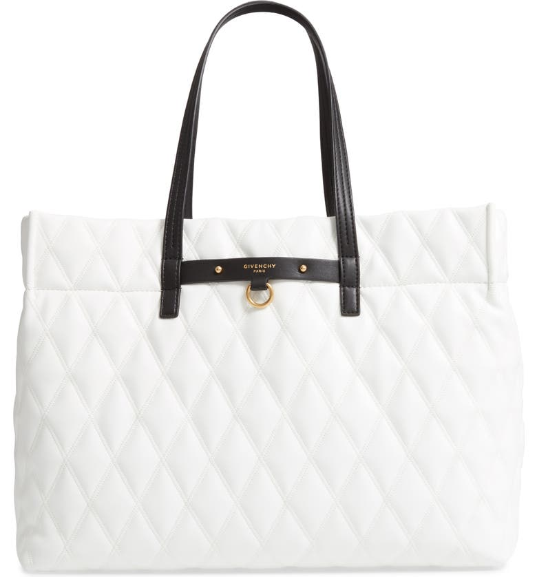 e57f75c9ef32 Givenchy Quilted East West Faux Leather Shopper