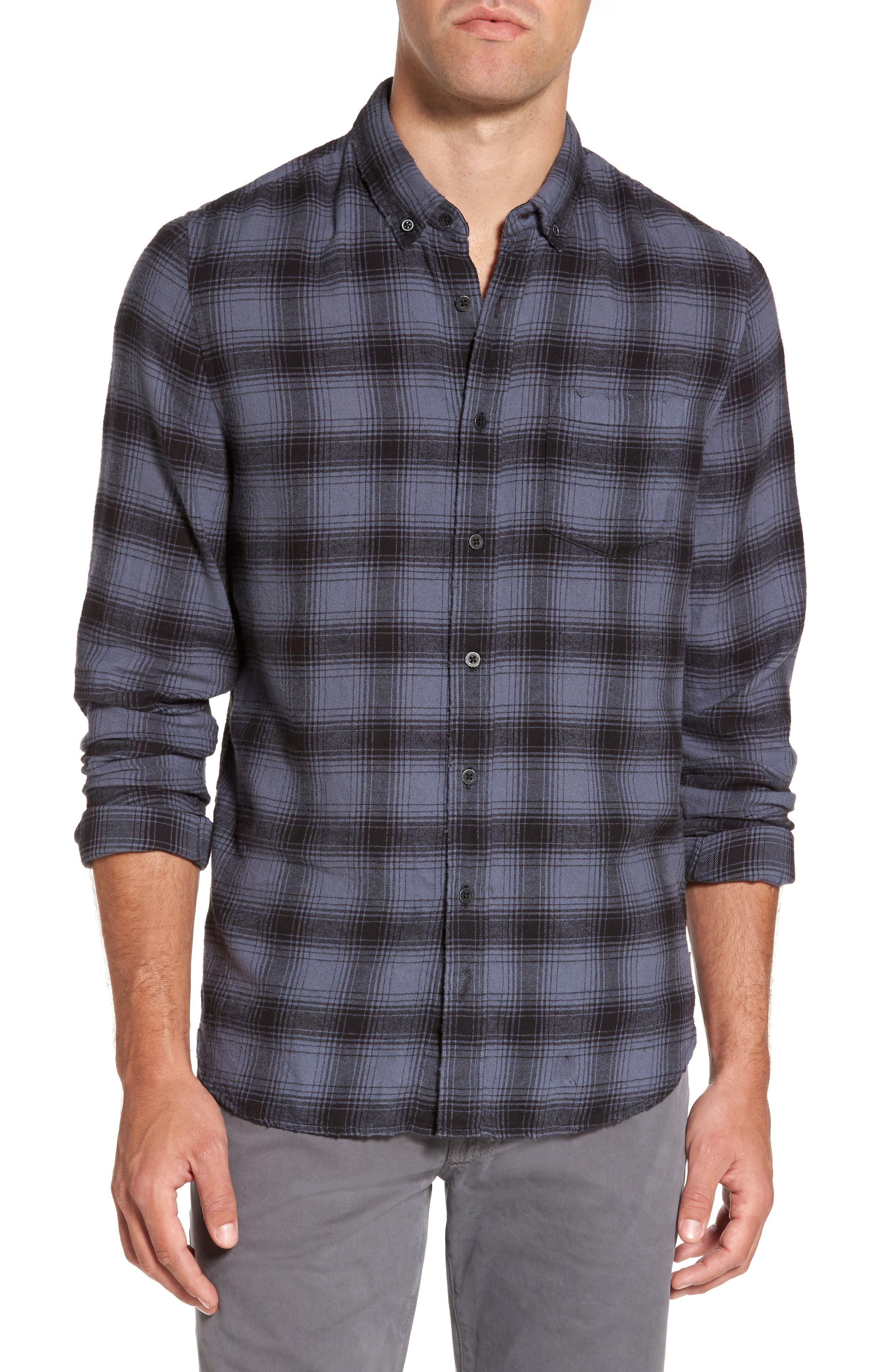 Grady Plaid Flannel Sport Shirt,                         Main,                         color, 008