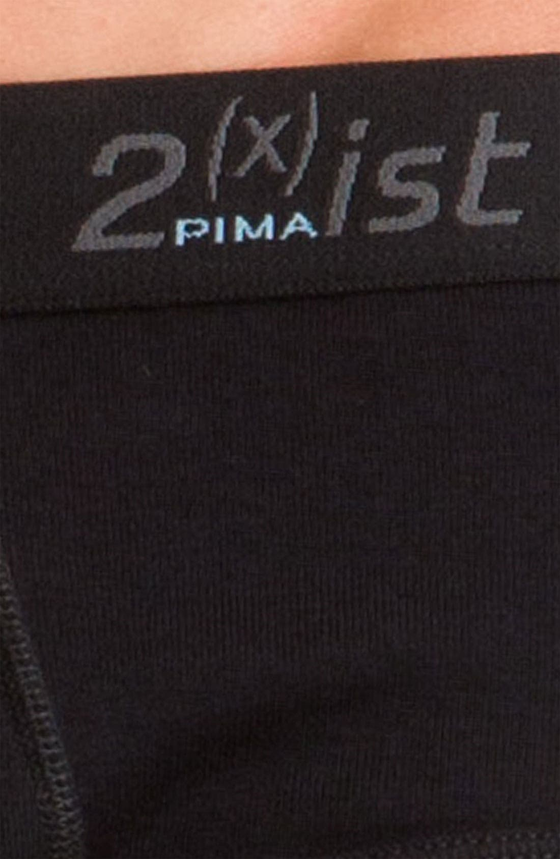 2(X)IST,                             Pima Cotton Briefs,                             Alternate thumbnail 2, color,                             001