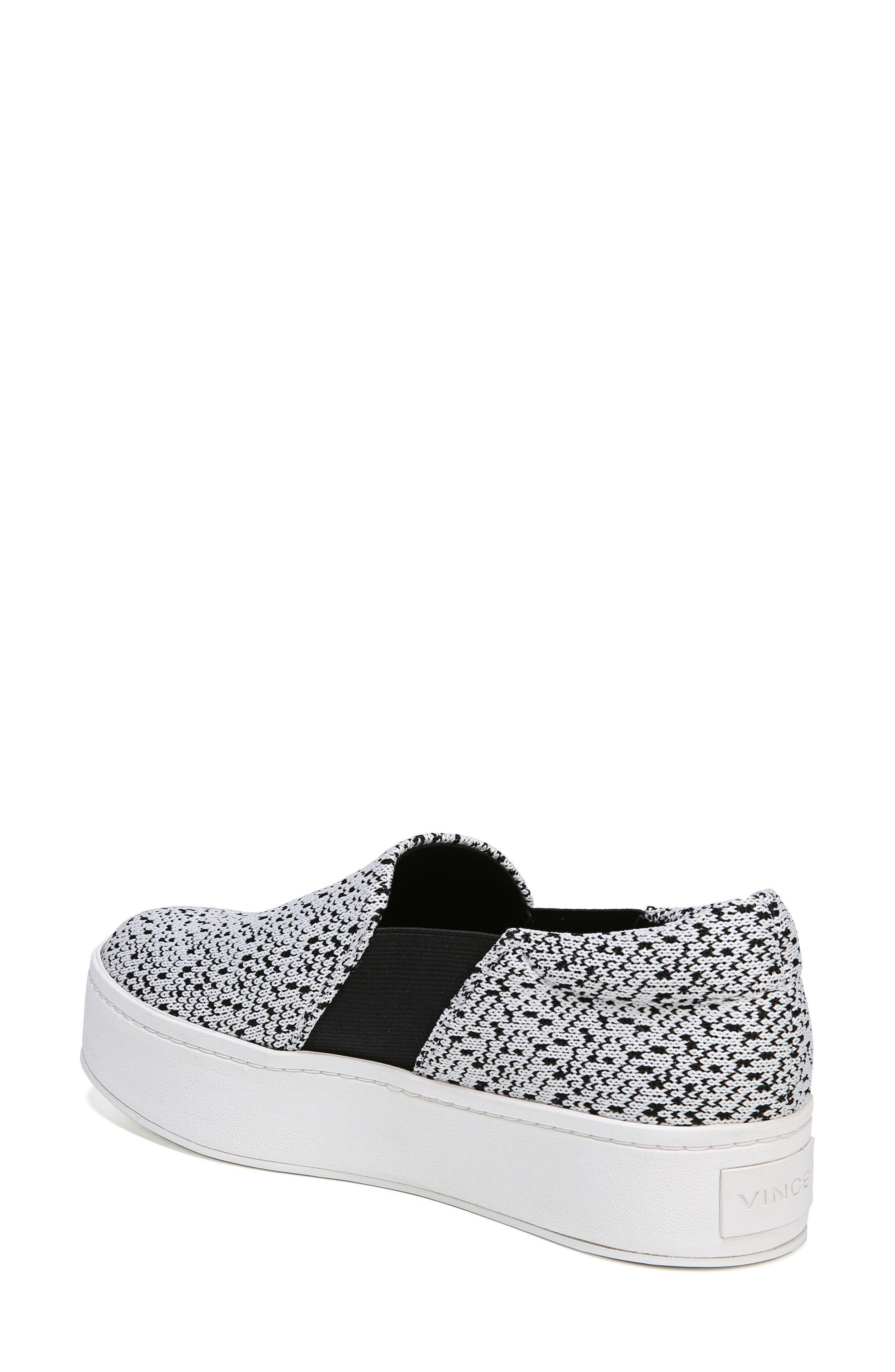 Warren Slip-On Sneaker,                             Alternate thumbnail 2, color,                             WHITE/ BLACK