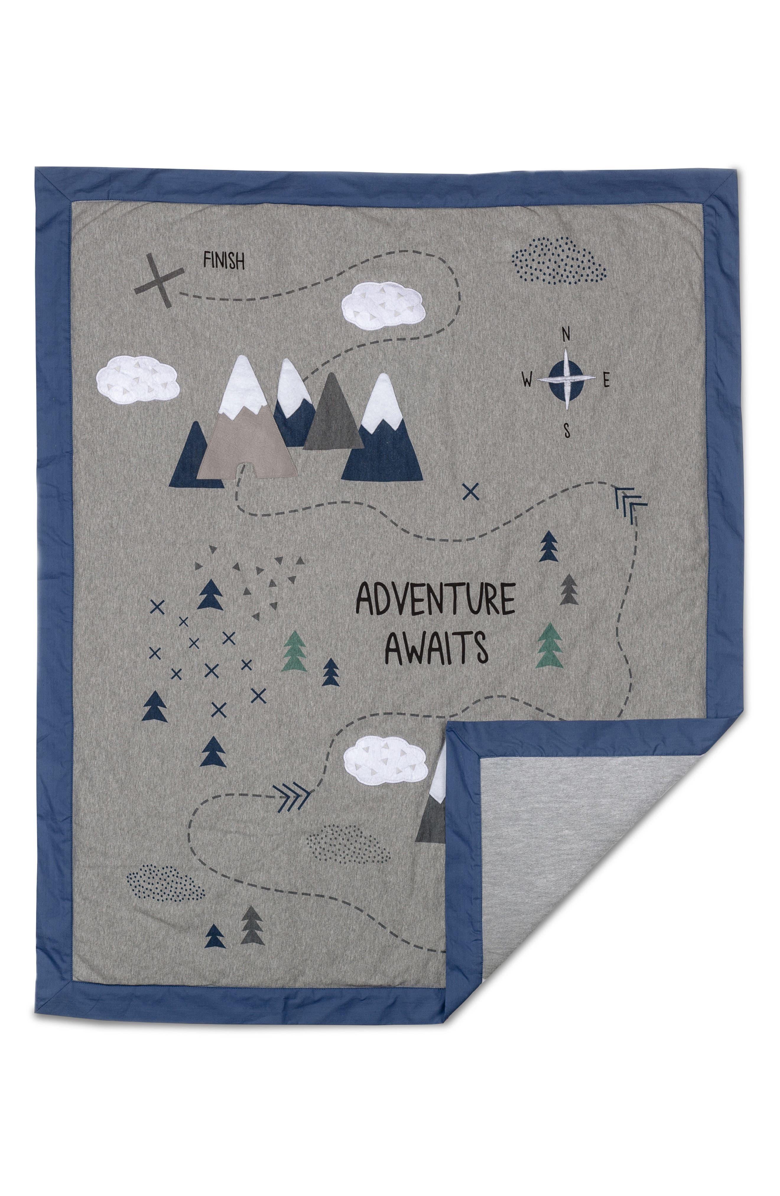 LIVING TEXTILES,                             Peaks 4-Piece Crib Bedding Set,                             Alternate thumbnail 2, color,                             PEAKS
