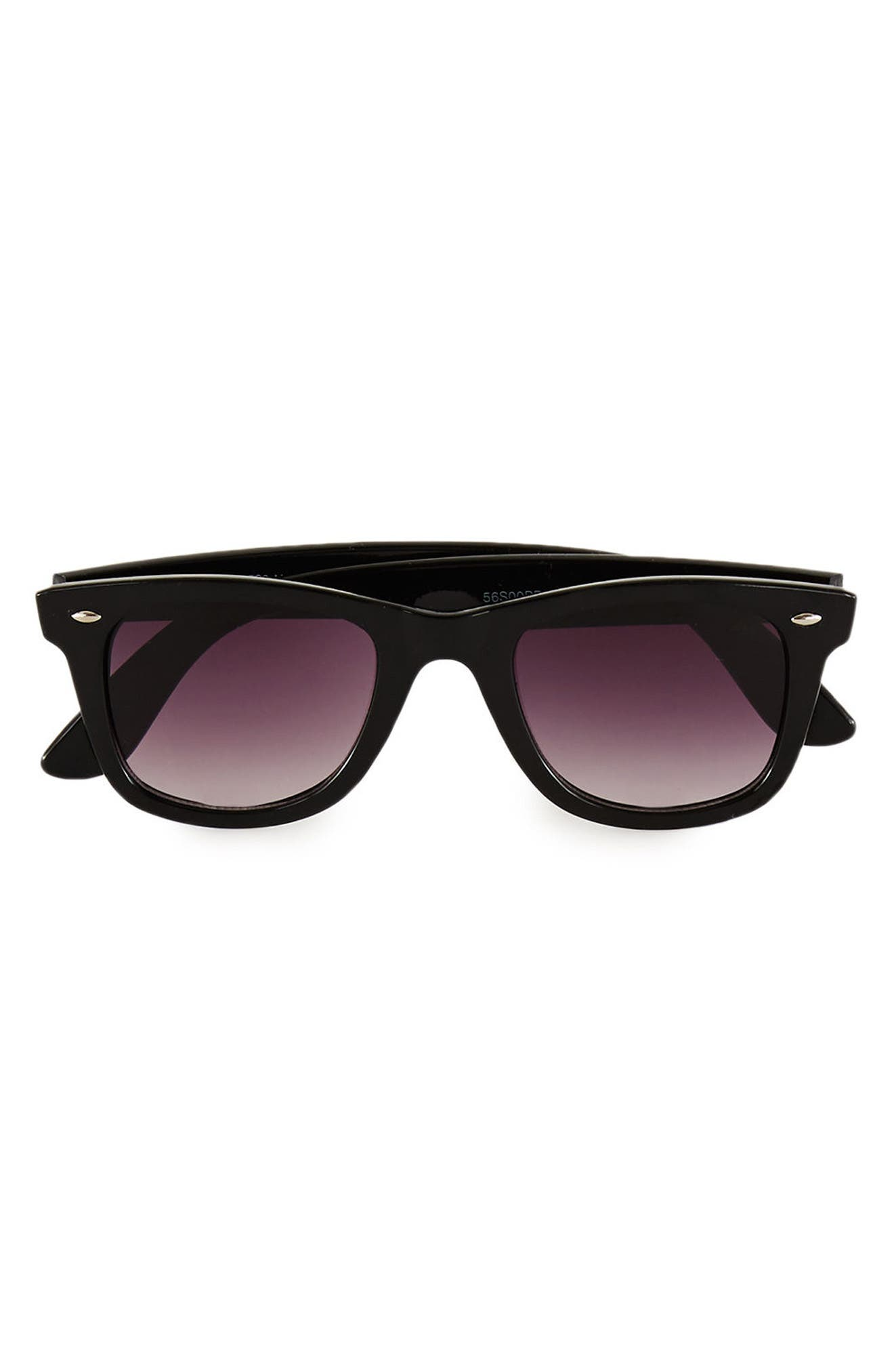 48mm Round Sunglasses,                             Main thumbnail 1, color,                             001