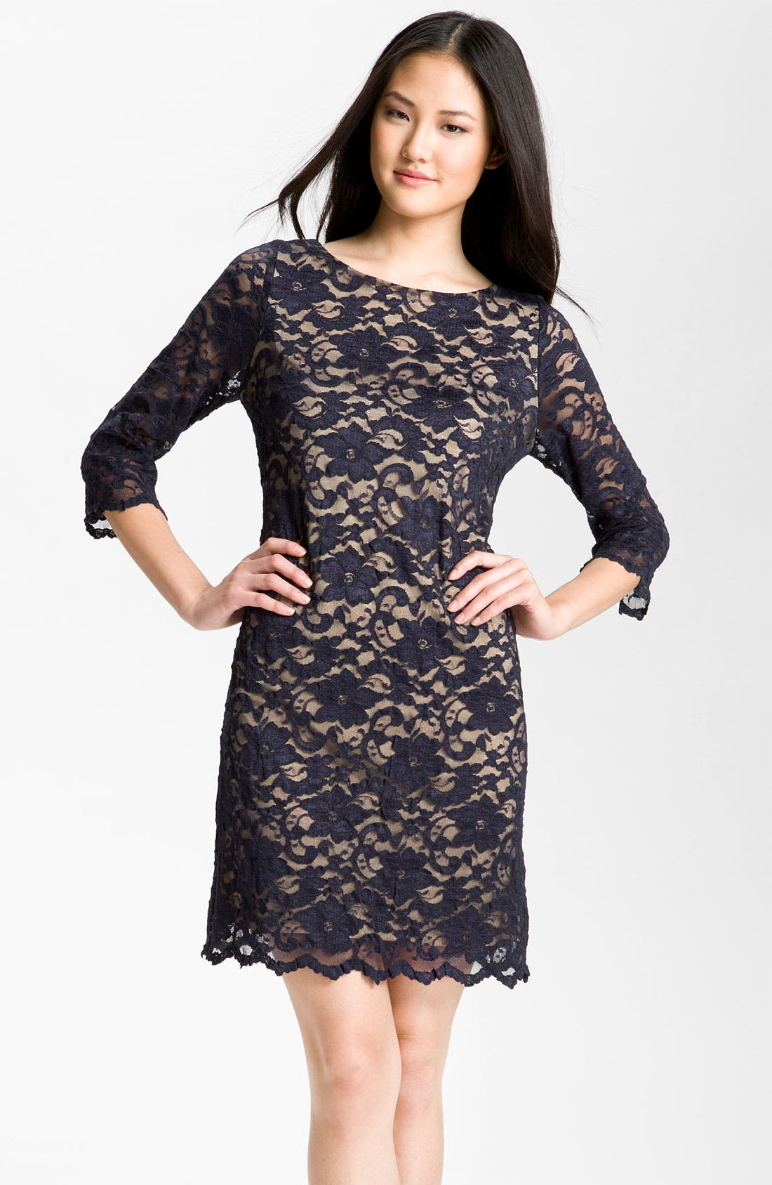 Lace Overlay Dress,                             Main thumbnail 2, color,