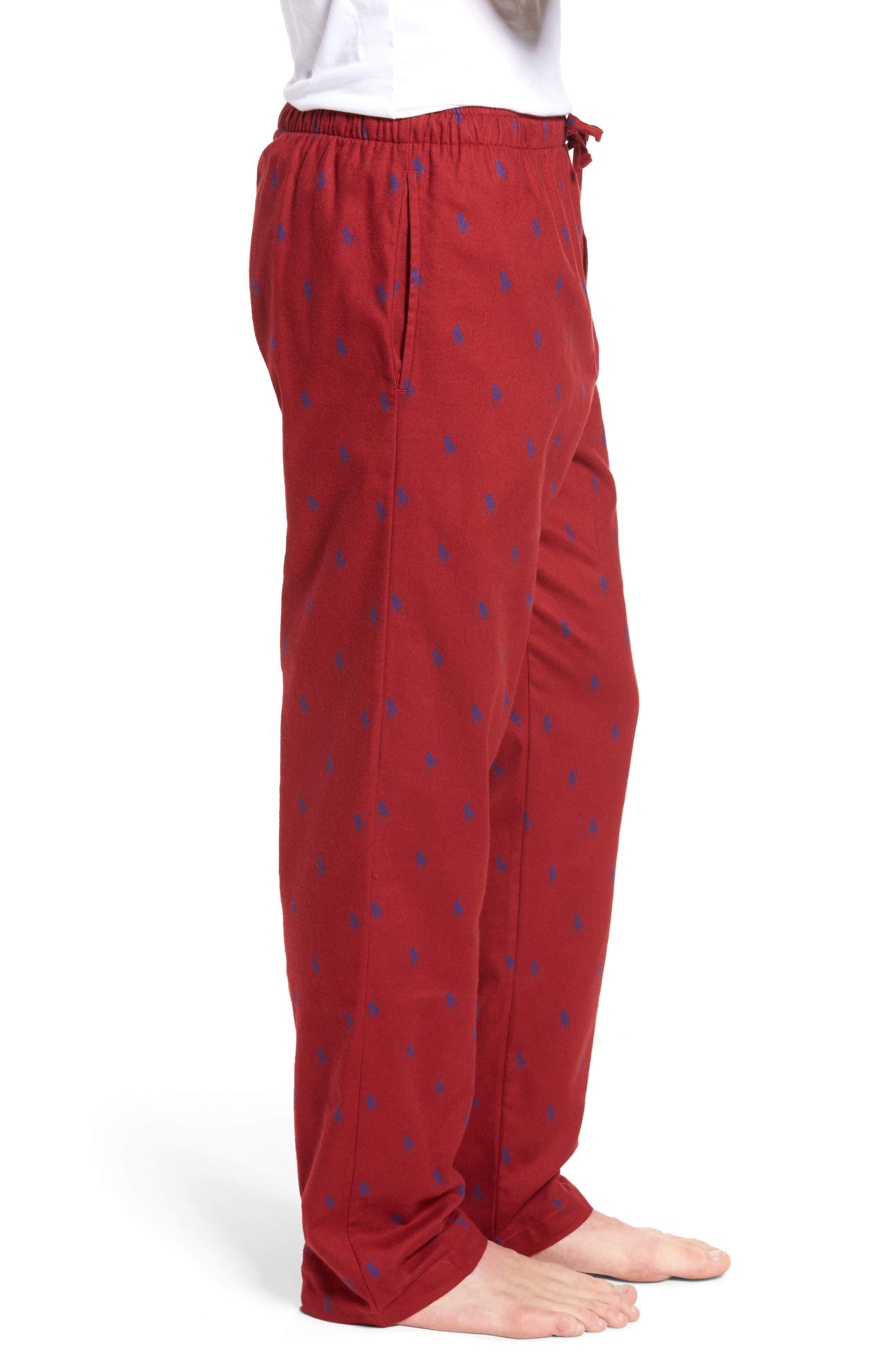 Brushed Flannel Pajama Pants,                             Alternate thumbnail 9, color,