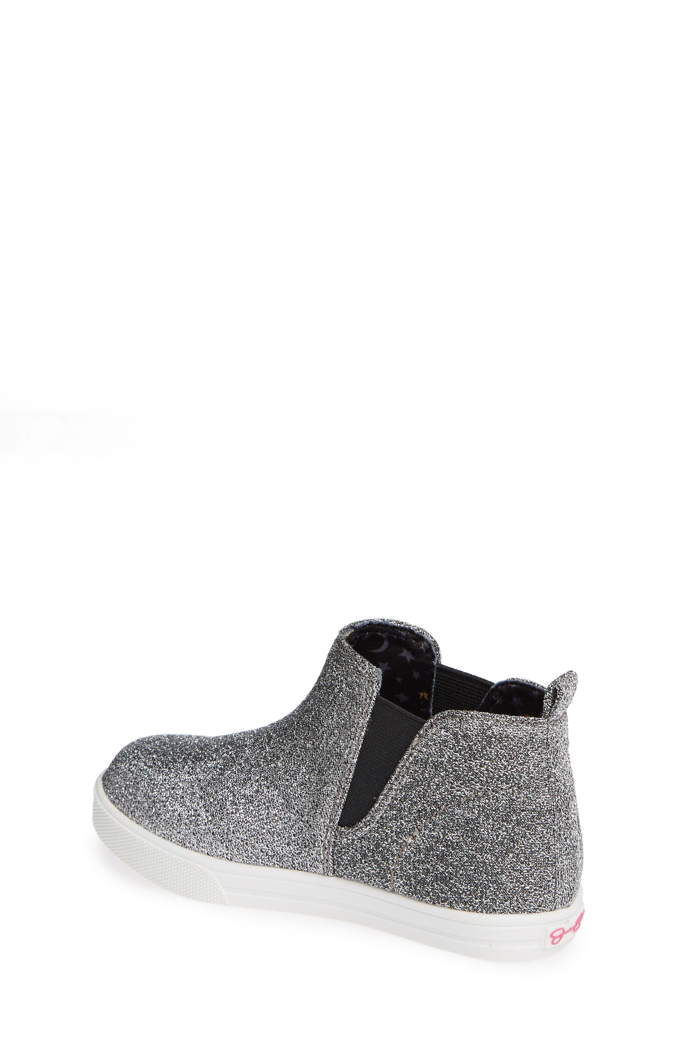 Glitter Sneaker Bootie,                             Alternate thumbnail 2, color,                             PEWTER STRETCH LAME