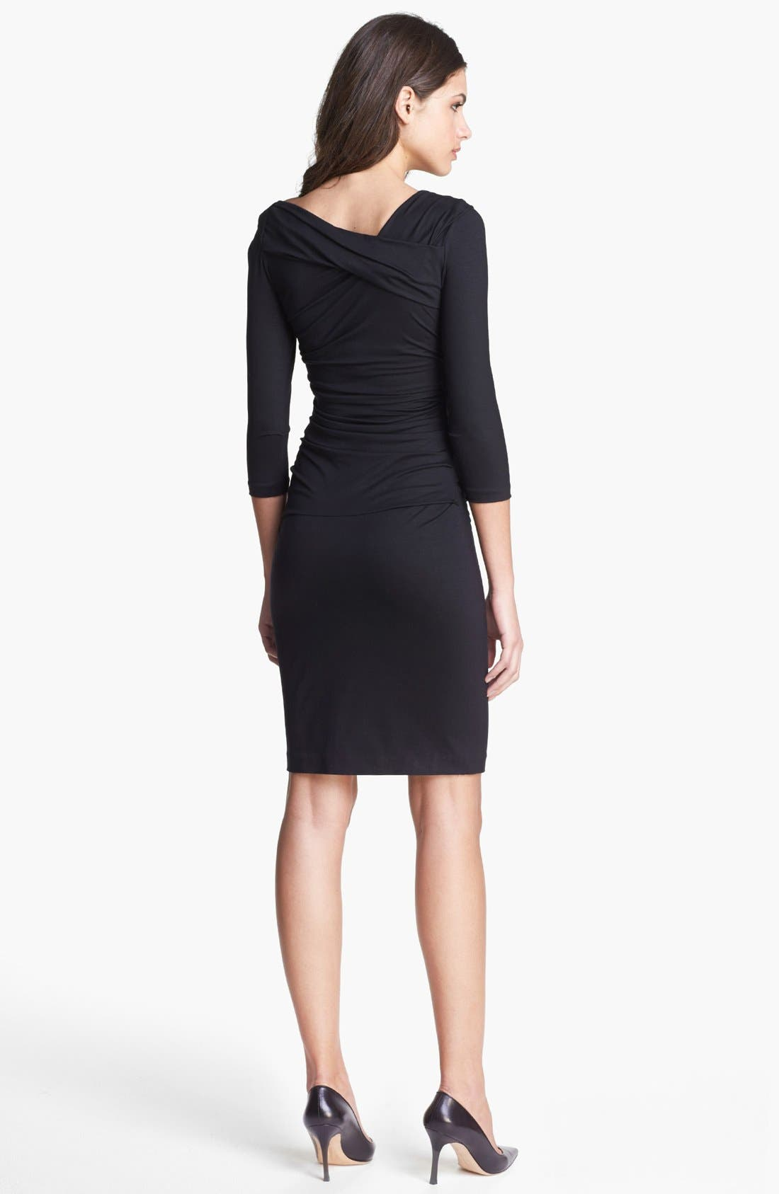 'Bentley' Ruched Dress,                             Alternate thumbnail 4, color,                             001