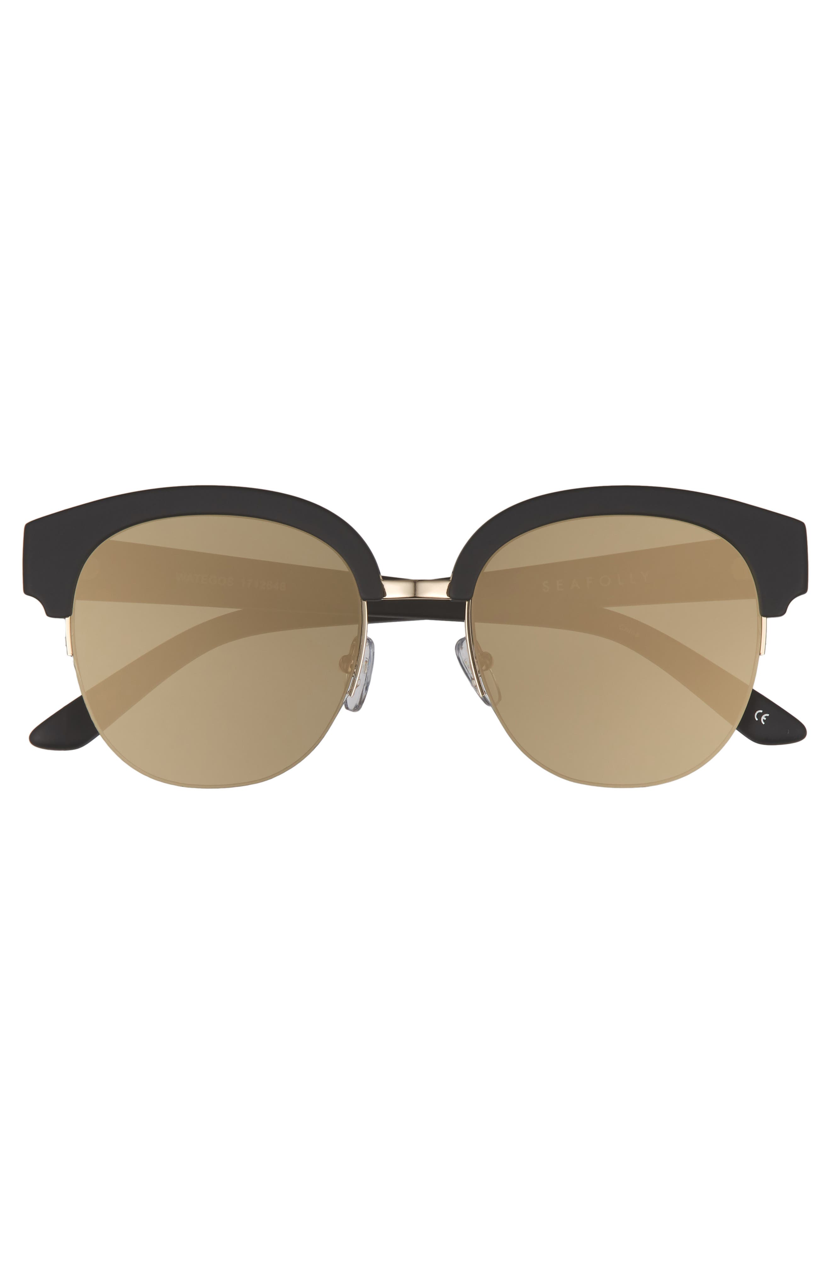 Wategos 53mm Cat Eye Sunglasses,                             Alternate thumbnail 3, color,                             001