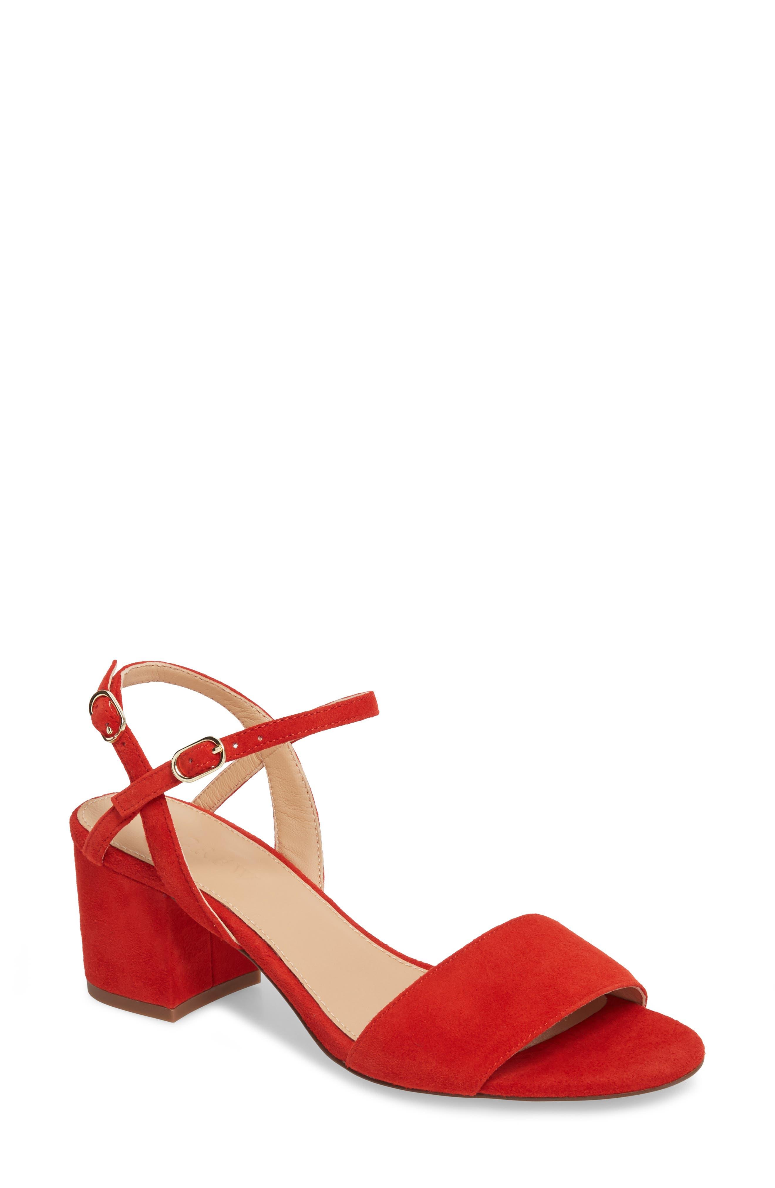 Strappy Block Heel Sandal,                             Main thumbnail 3, color,