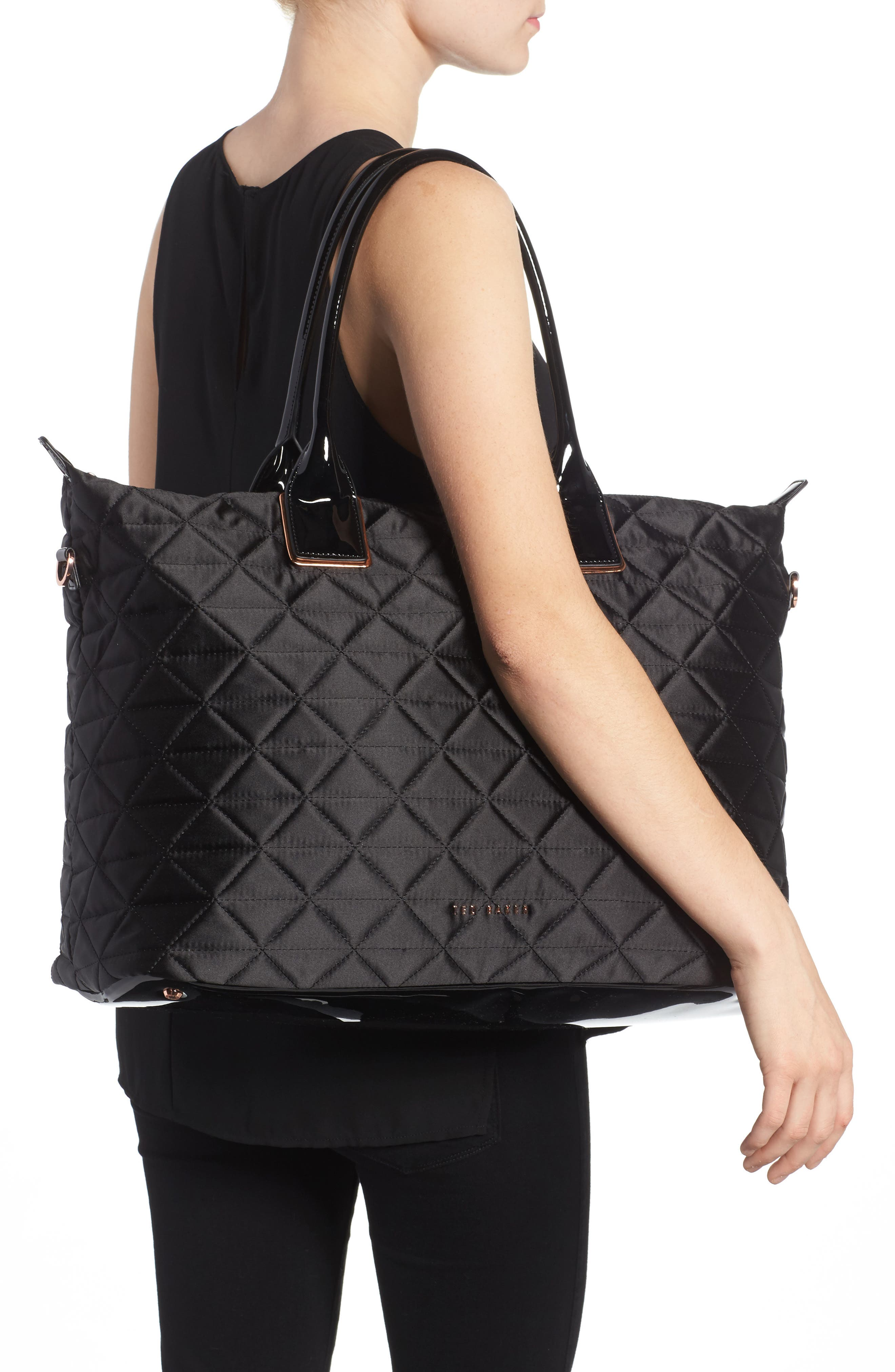 Large Hilksi Quilted Tote,                             Alternate thumbnail 2, color,