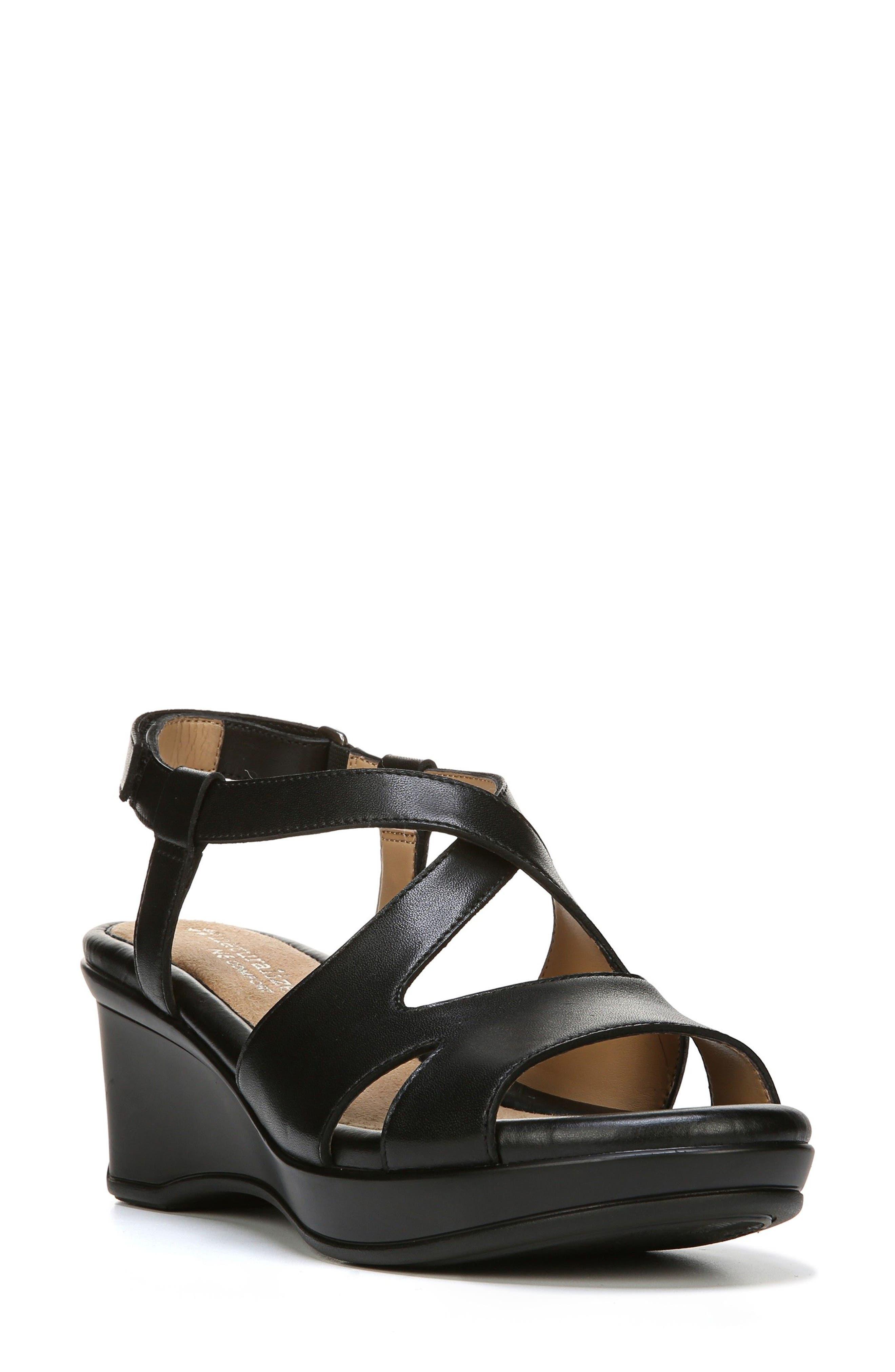 Vilette Wedge Sandal,                         Main,                         color, 001