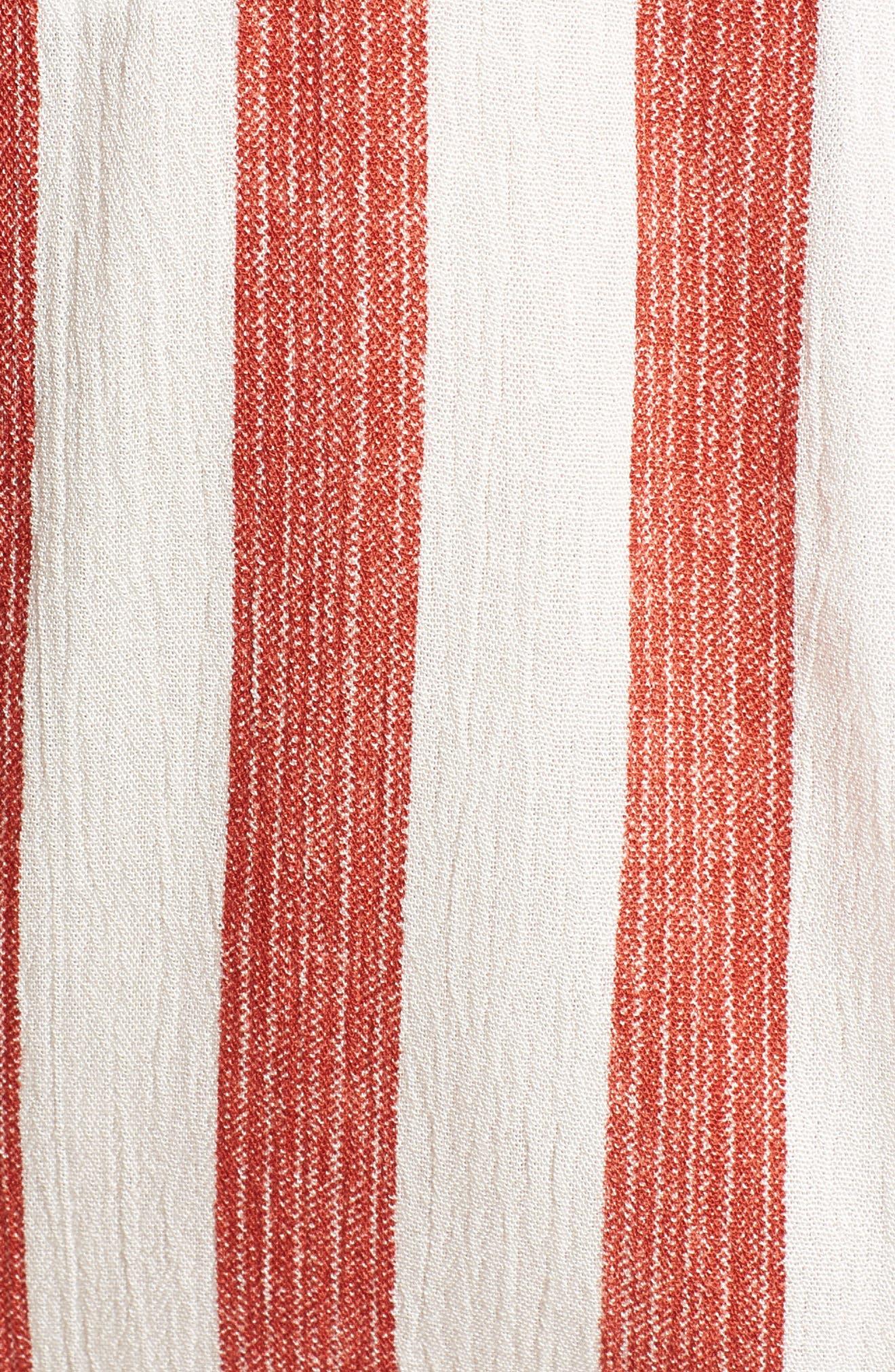 Stripe Tie Front Top,                             Alternate thumbnail 6, color,                             600