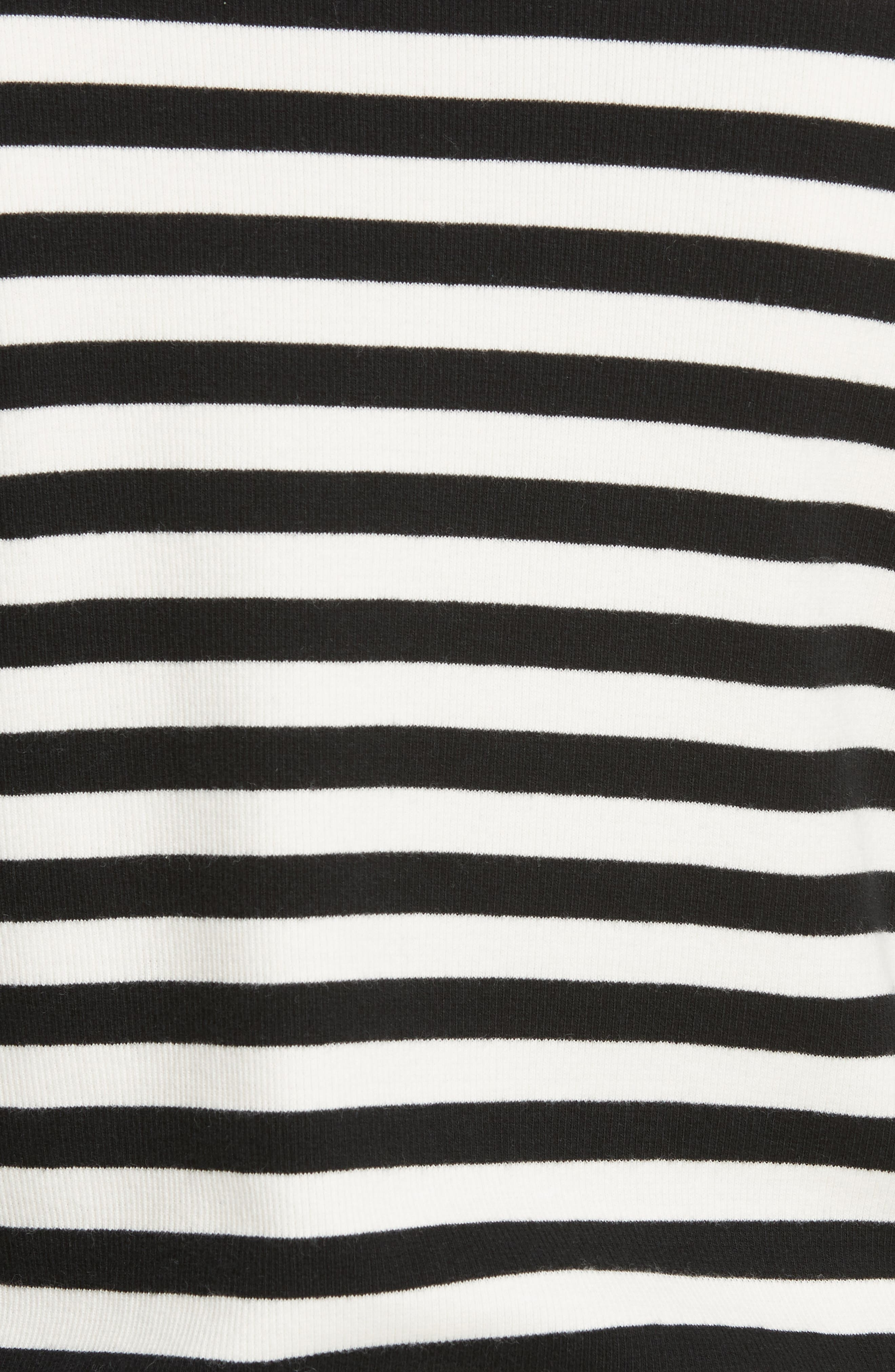 Mayer Button Shoulder Stripe Top,                             Alternate thumbnail 5, color,                             BLACK/ WHITE