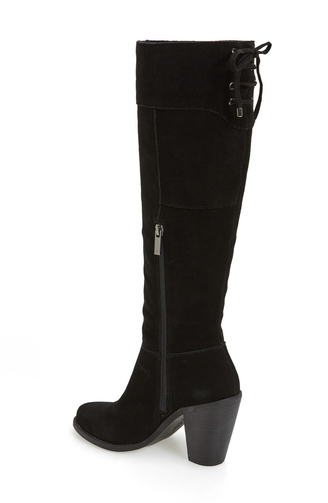 Ciarah Knee High Boot,                             Alternate thumbnail 3, color,                             001