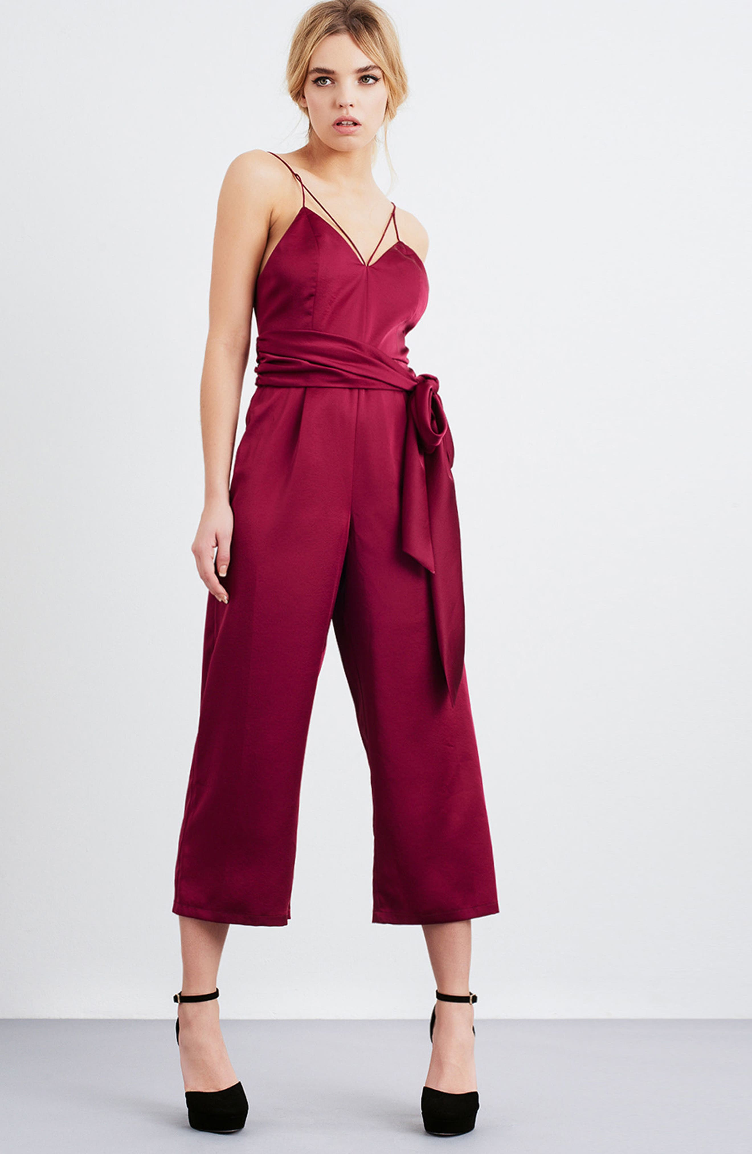 Strappy Satin Jumpsuit,                             Alternate thumbnail 7, color,                             650