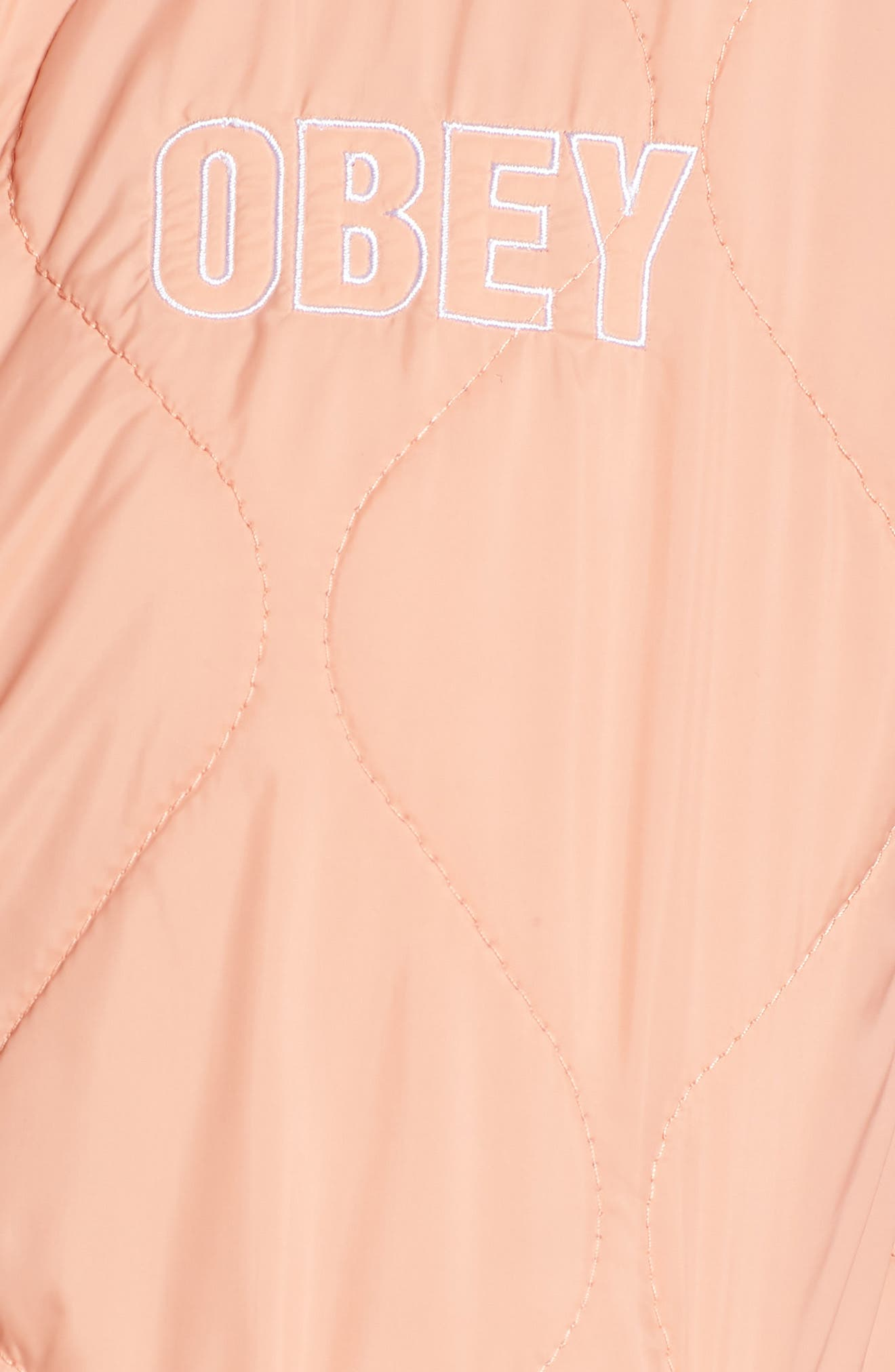 OBEY,                             Bunker Quilted Bomber Jacket,                             Alternate thumbnail 7, color,                             950