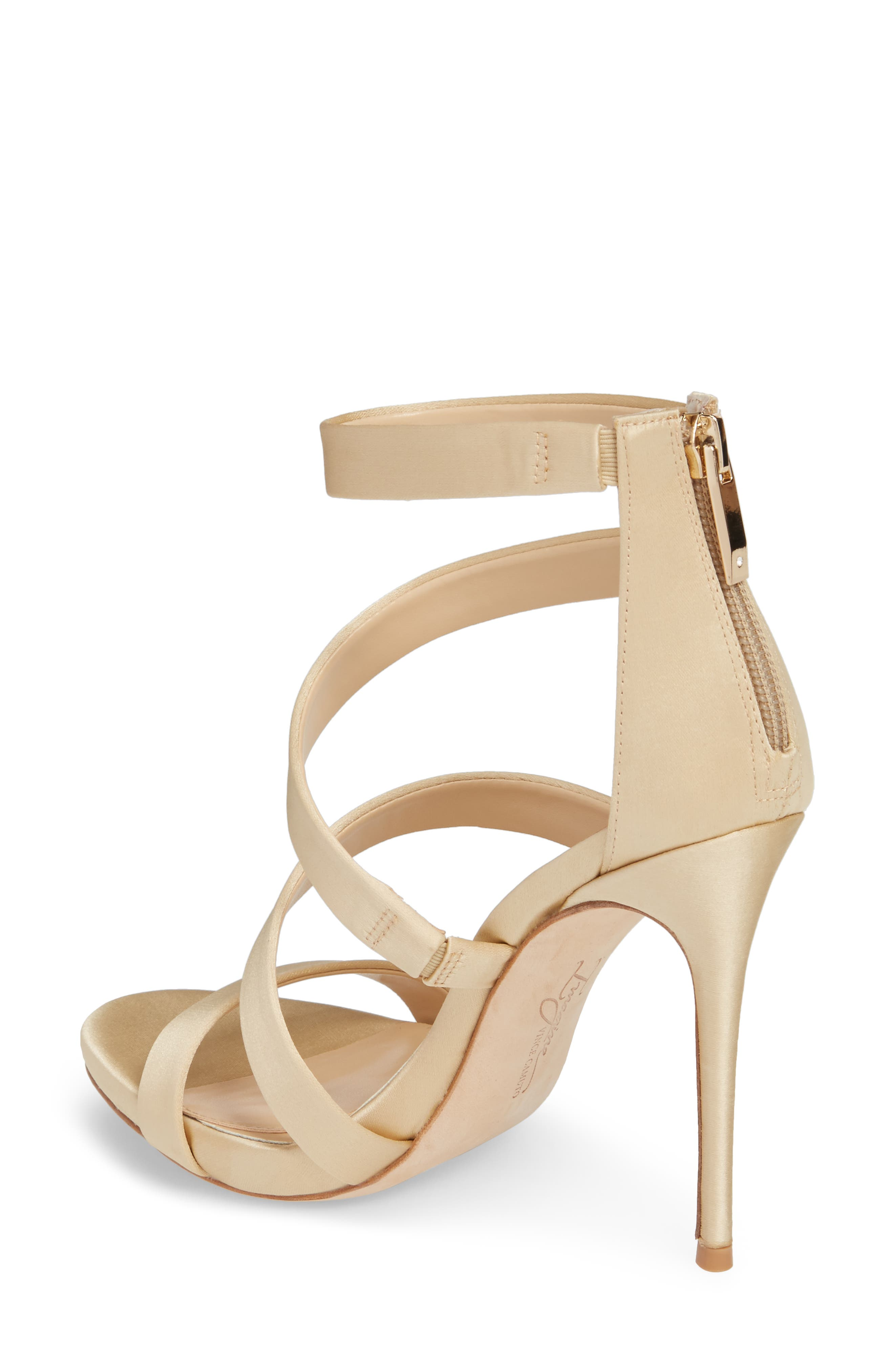 Imagine Vince Camuto Dalles Tall Strappy Sandal,                             Alternate thumbnail 2, color,                             SOFT GOLD SATIN