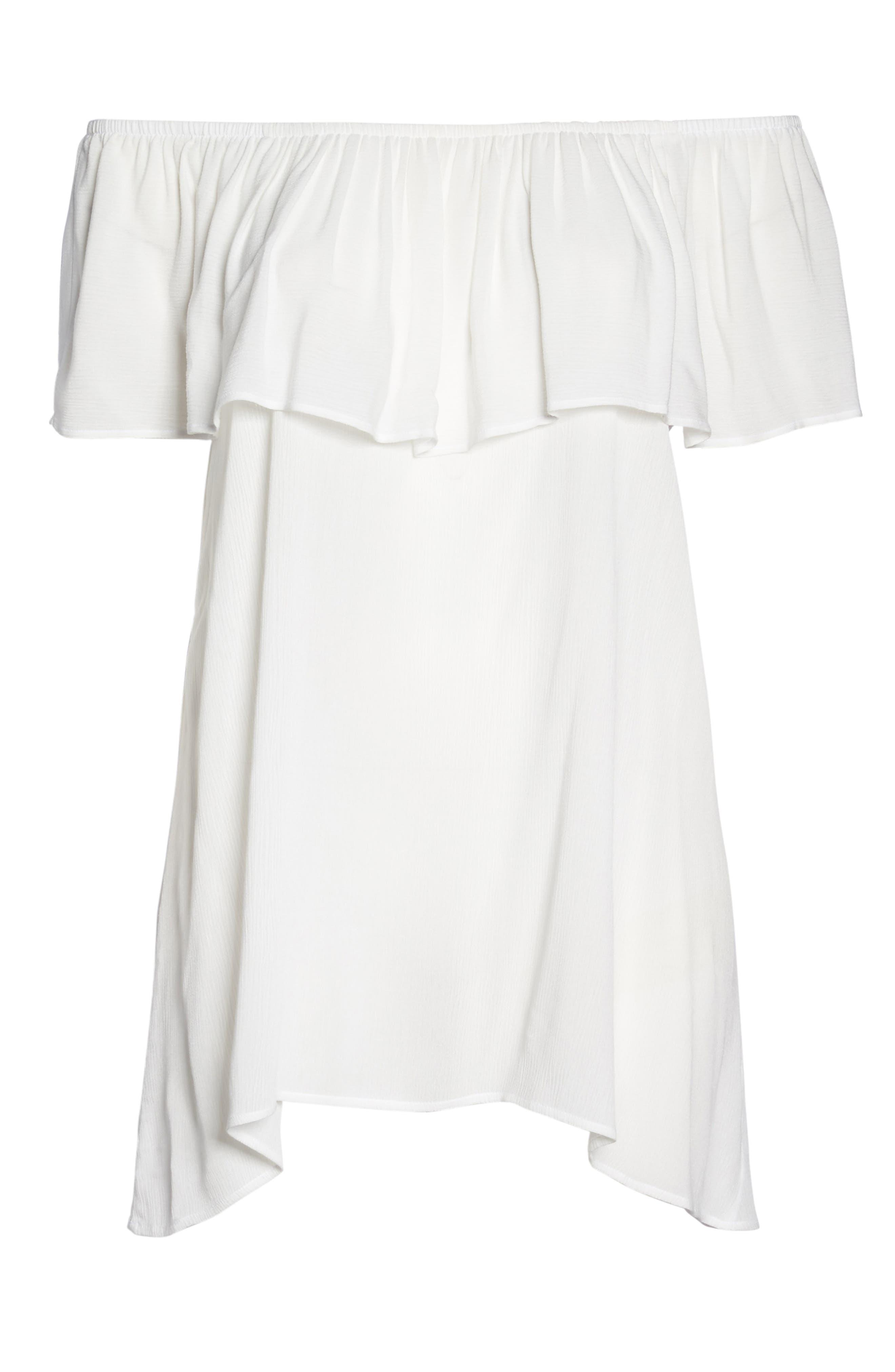 Southern Belle Off the Shoulder Cover-Up Dress,                             Alternate thumbnail 12, color,