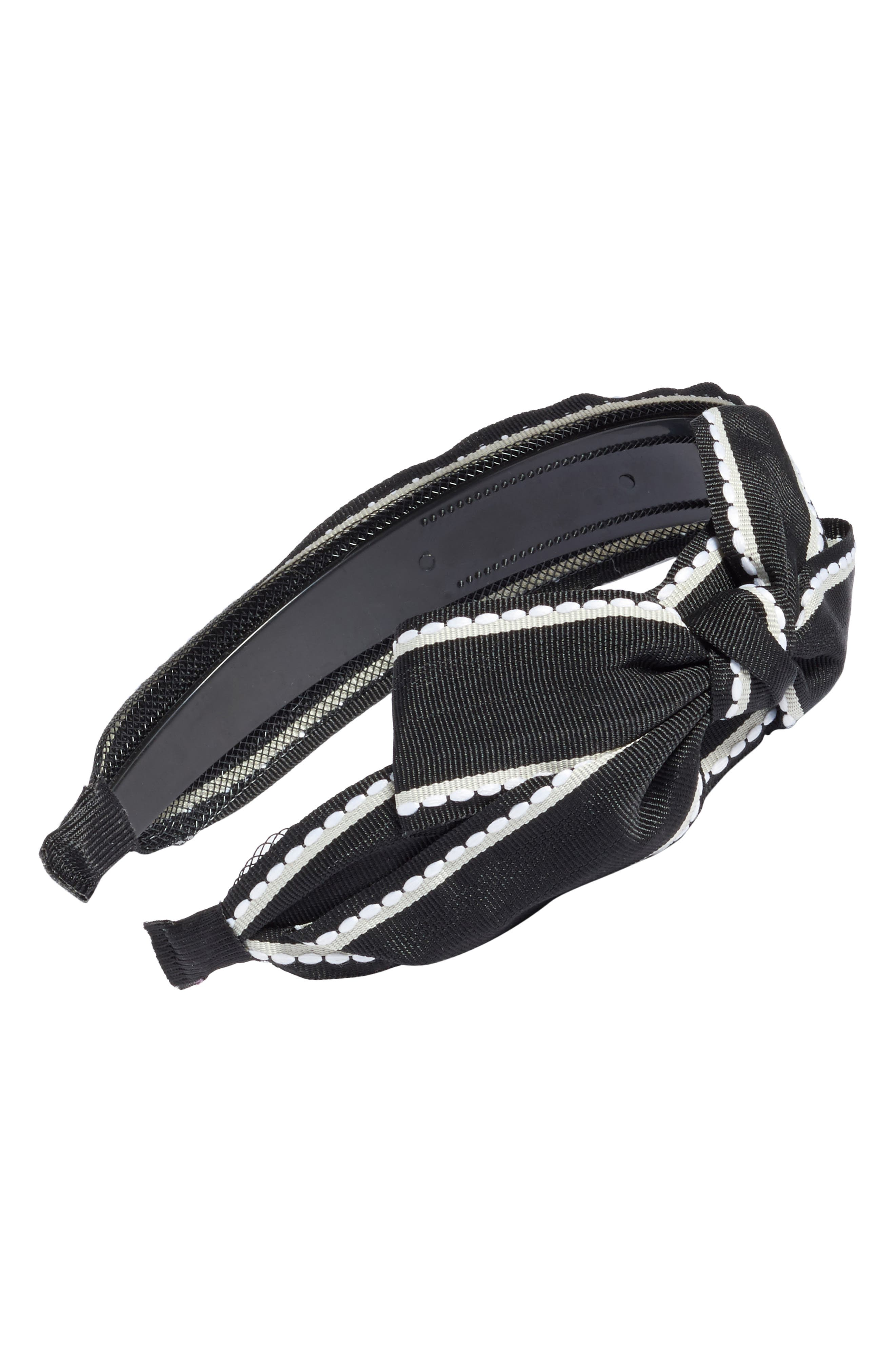 Big Bow Stripe Headband,                             Main thumbnail 1, color,                             011