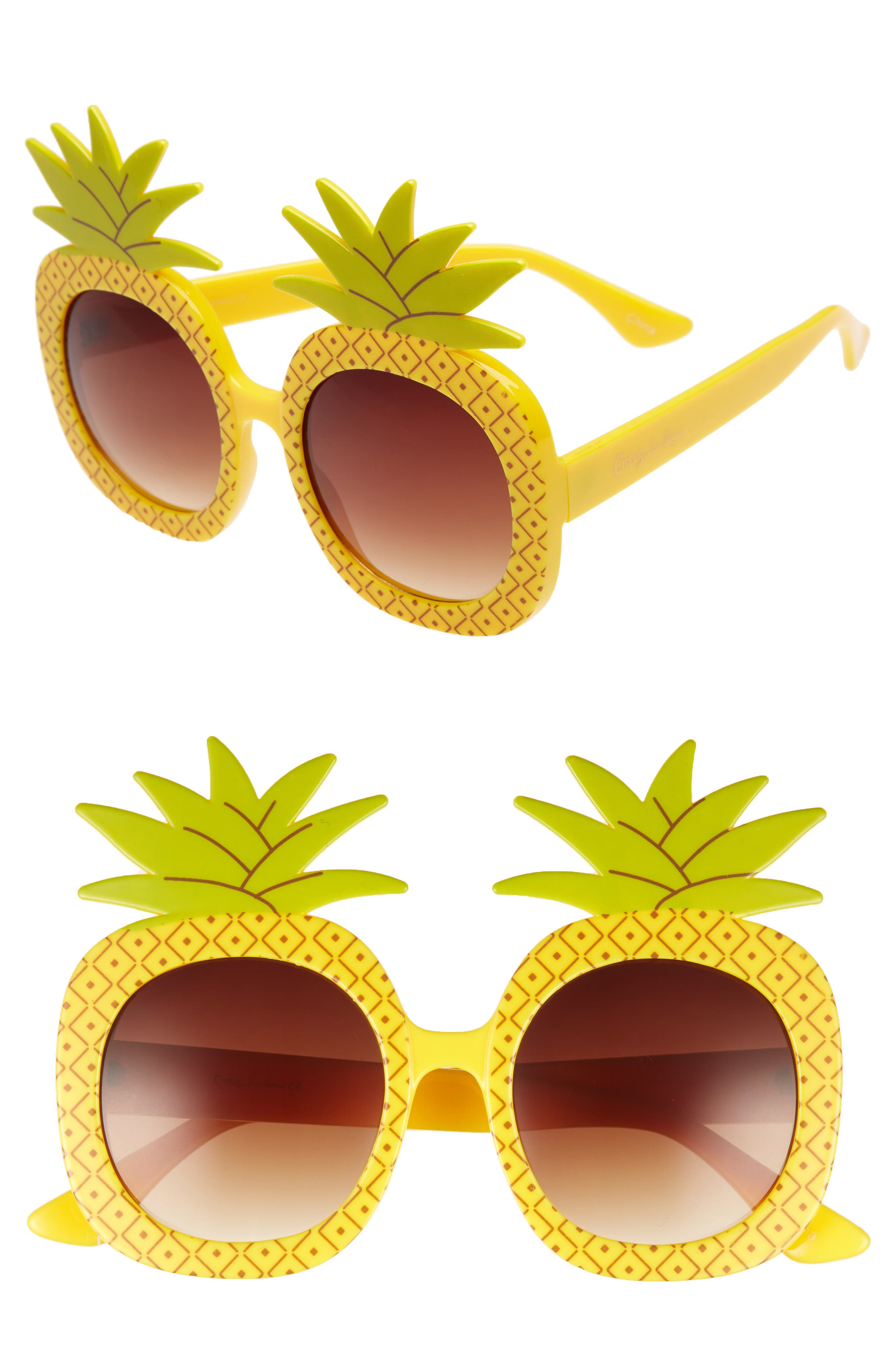51mm Pineapple Glam Sunglasses,                             Main thumbnail 1, color,