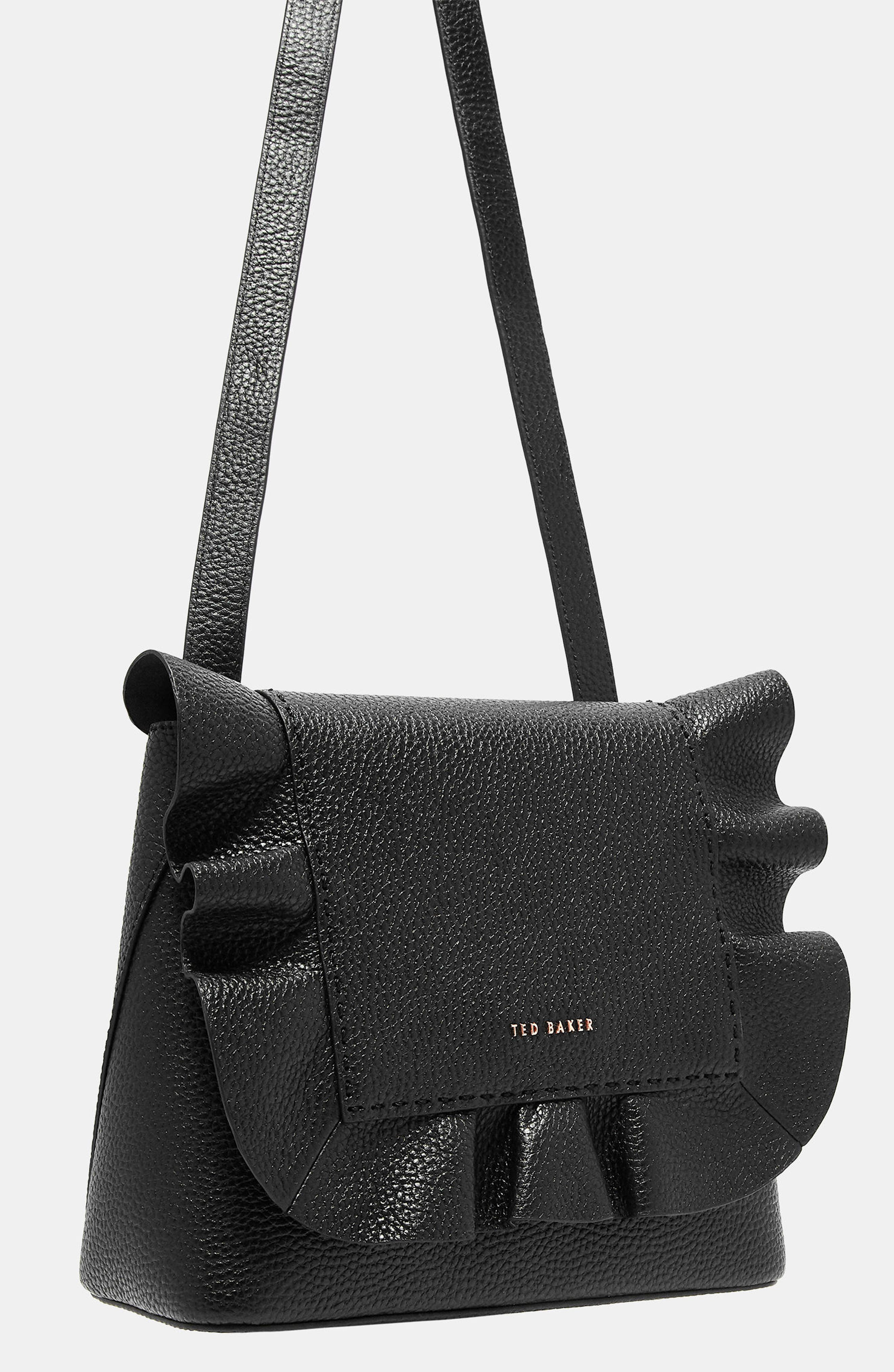 Rammira Leather Convertible Backpack,                             Alternate thumbnail 5, color,                             001