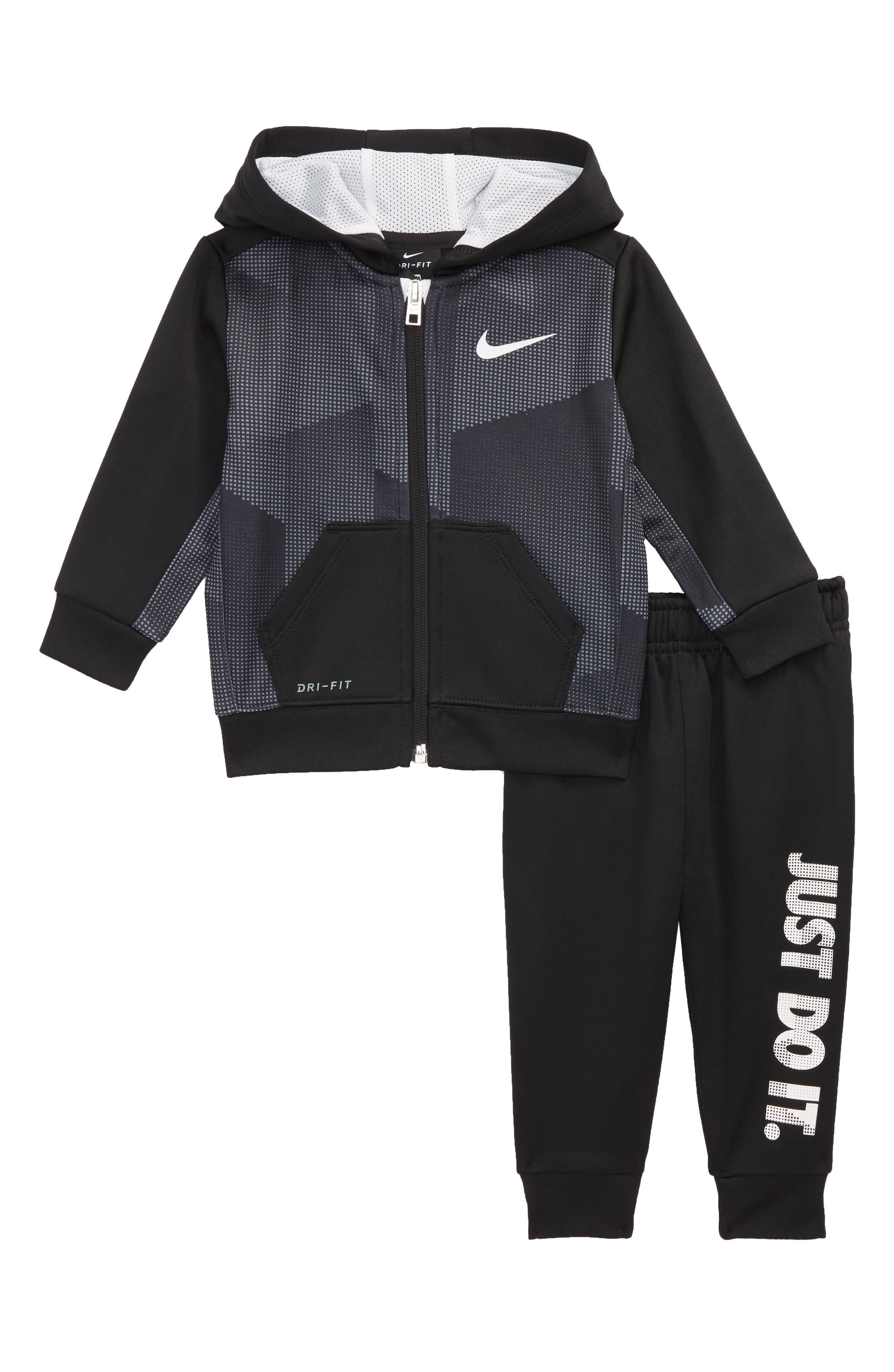 Block Taping Tricot Dri-FIT Hoodie & Sweatpants Set,                         Main,                         color, 006