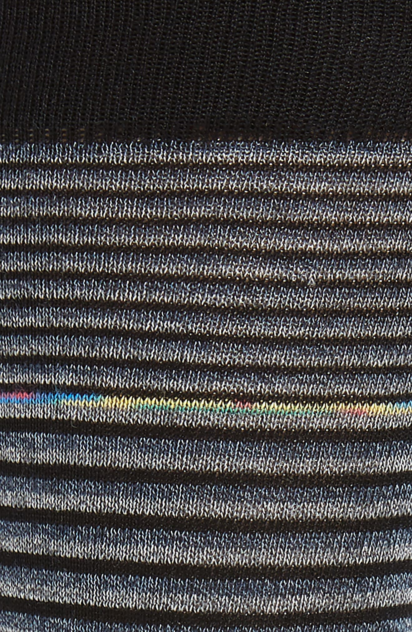 Stripe Socks,                             Alternate thumbnail 2, color,                             CHARCOAL