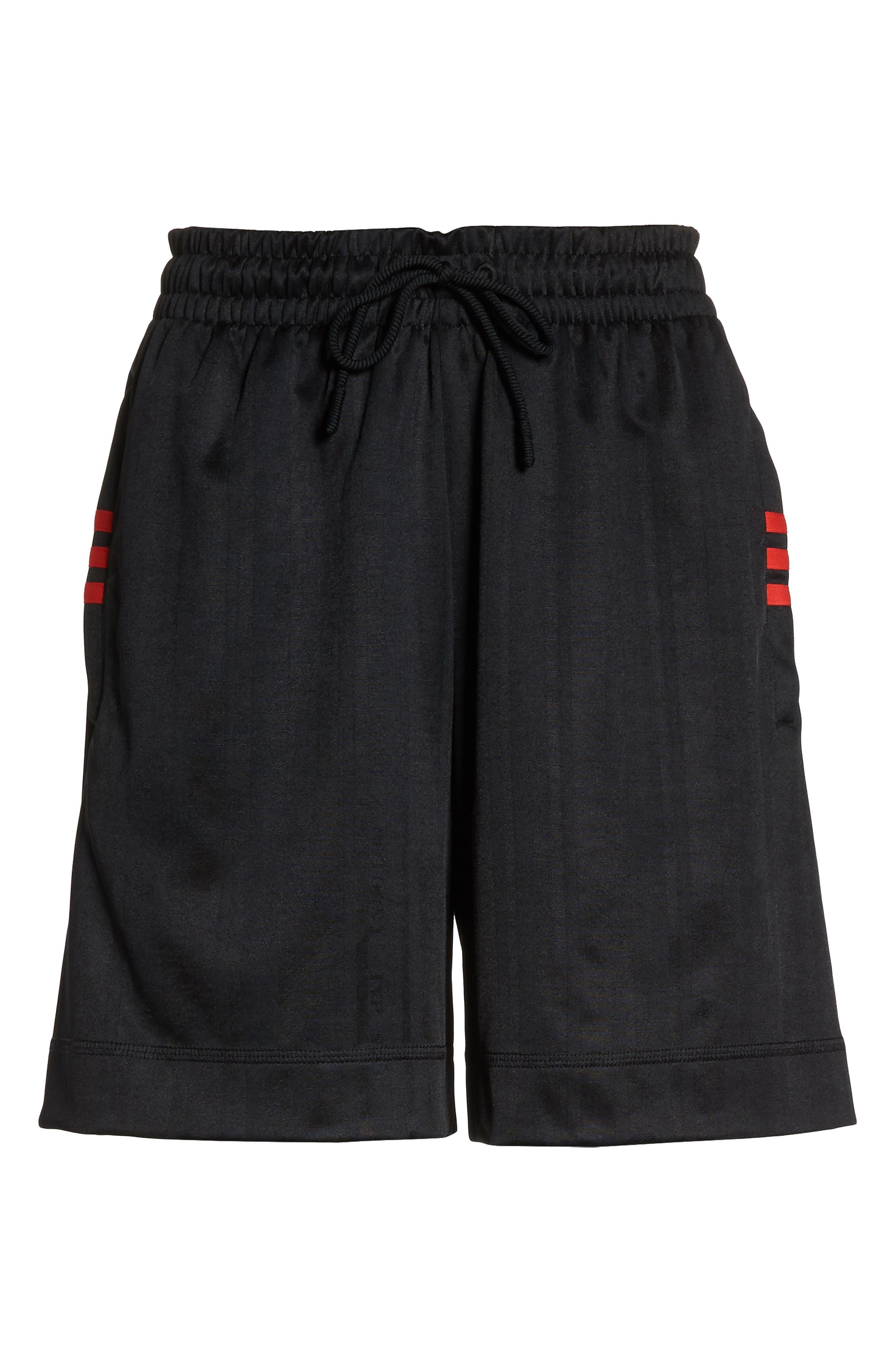 Soccer Shorts,                             Alternate thumbnail 7, color,                             BLACK/ CORE RED