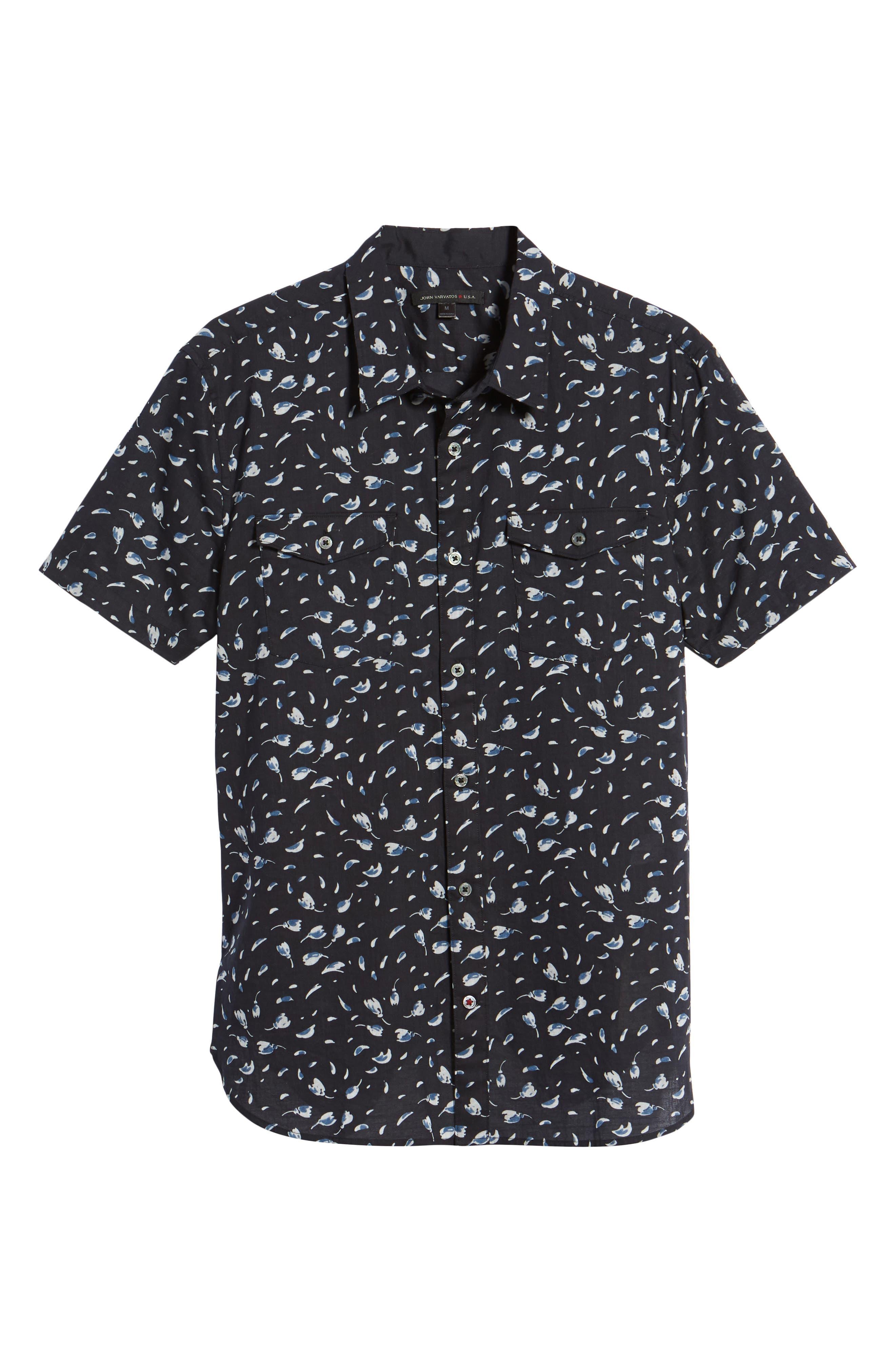 Extra Slim Fit Print Sport Shirt,                             Alternate thumbnail 6, color,                             038