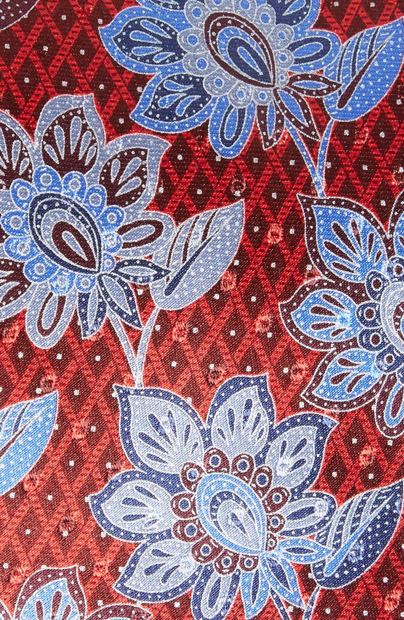 Floral Silk Tie,                             Alternate thumbnail 2, color,