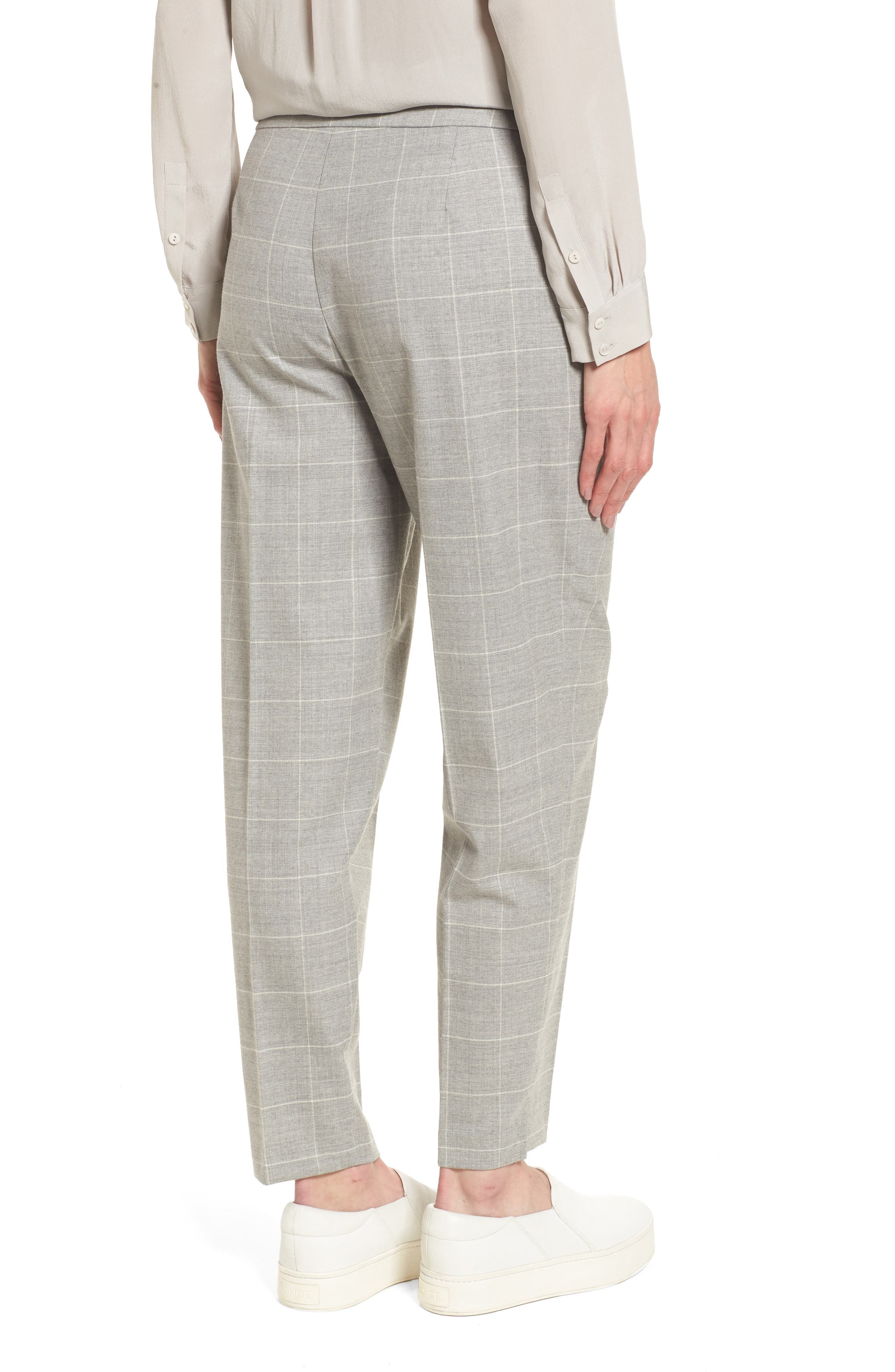 Tapered Stretch Wool Ankle Pants,                             Alternate thumbnail 2, color,                             022
