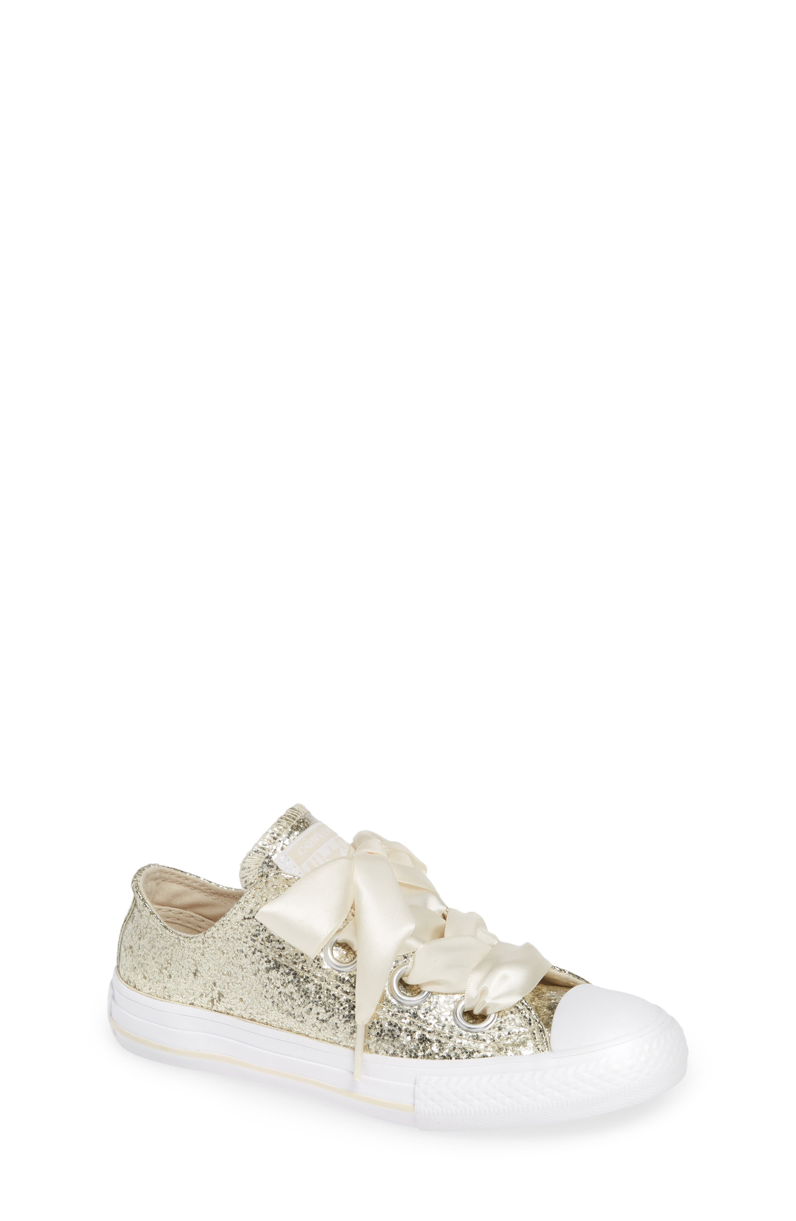 Chuck Taylor<sup>®</sup> All Star<sup>®</sup> Glitter Big Eyelet Ox Sneaker,                         Main,                         color, NATURAL IVORY