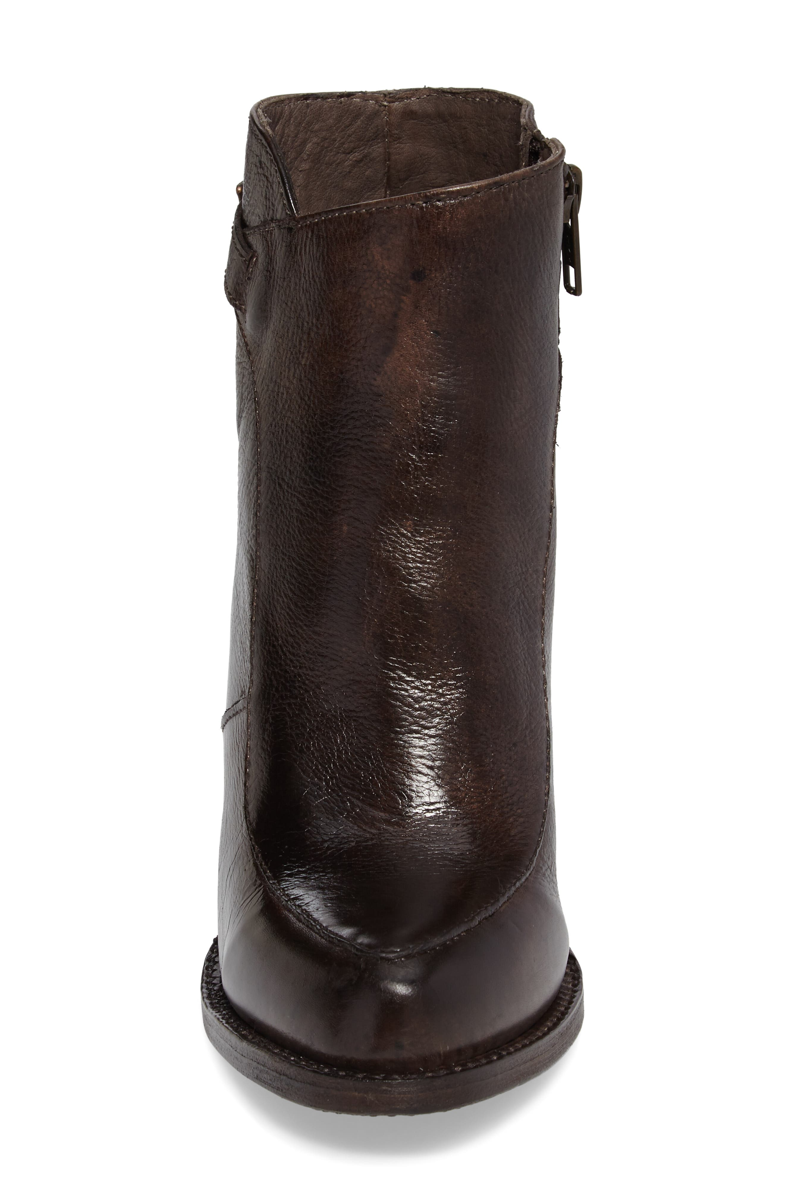 'Isla' Stacked Heel Boot,                             Alternate thumbnail 4, color,                             201