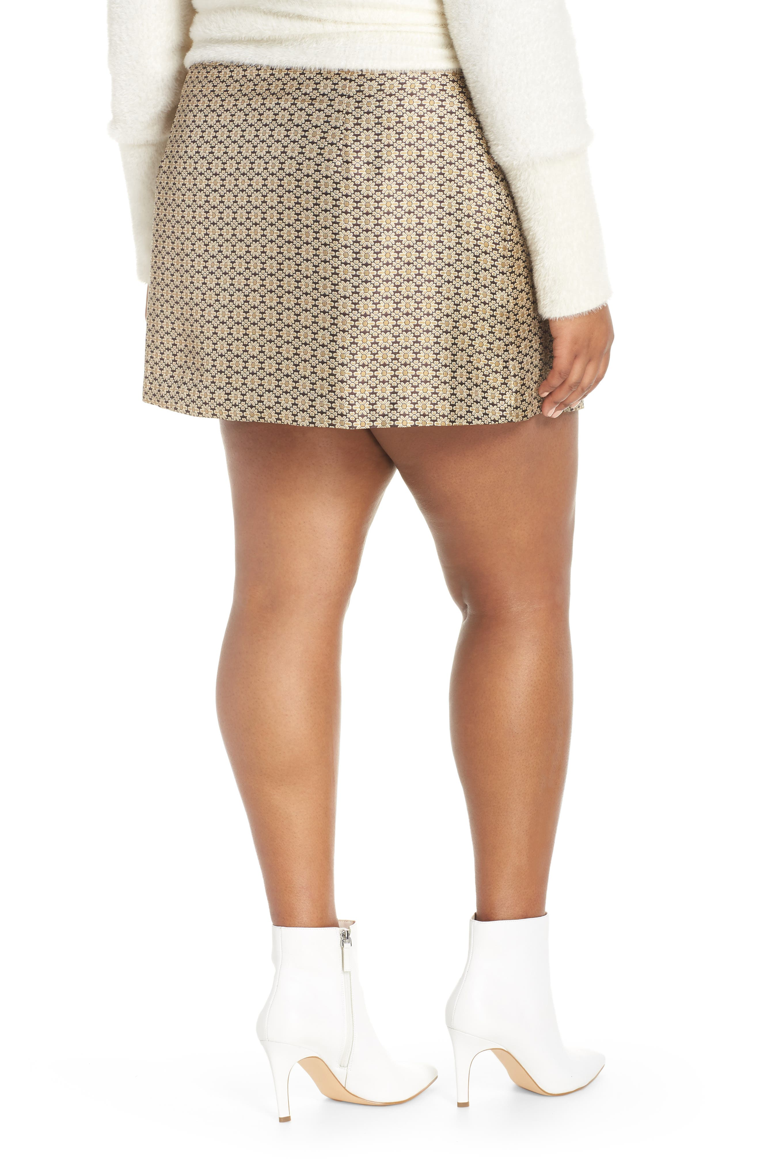 Pelham Button Front Miniskirt,                             Alternate thumbnail 8, color,                             710
