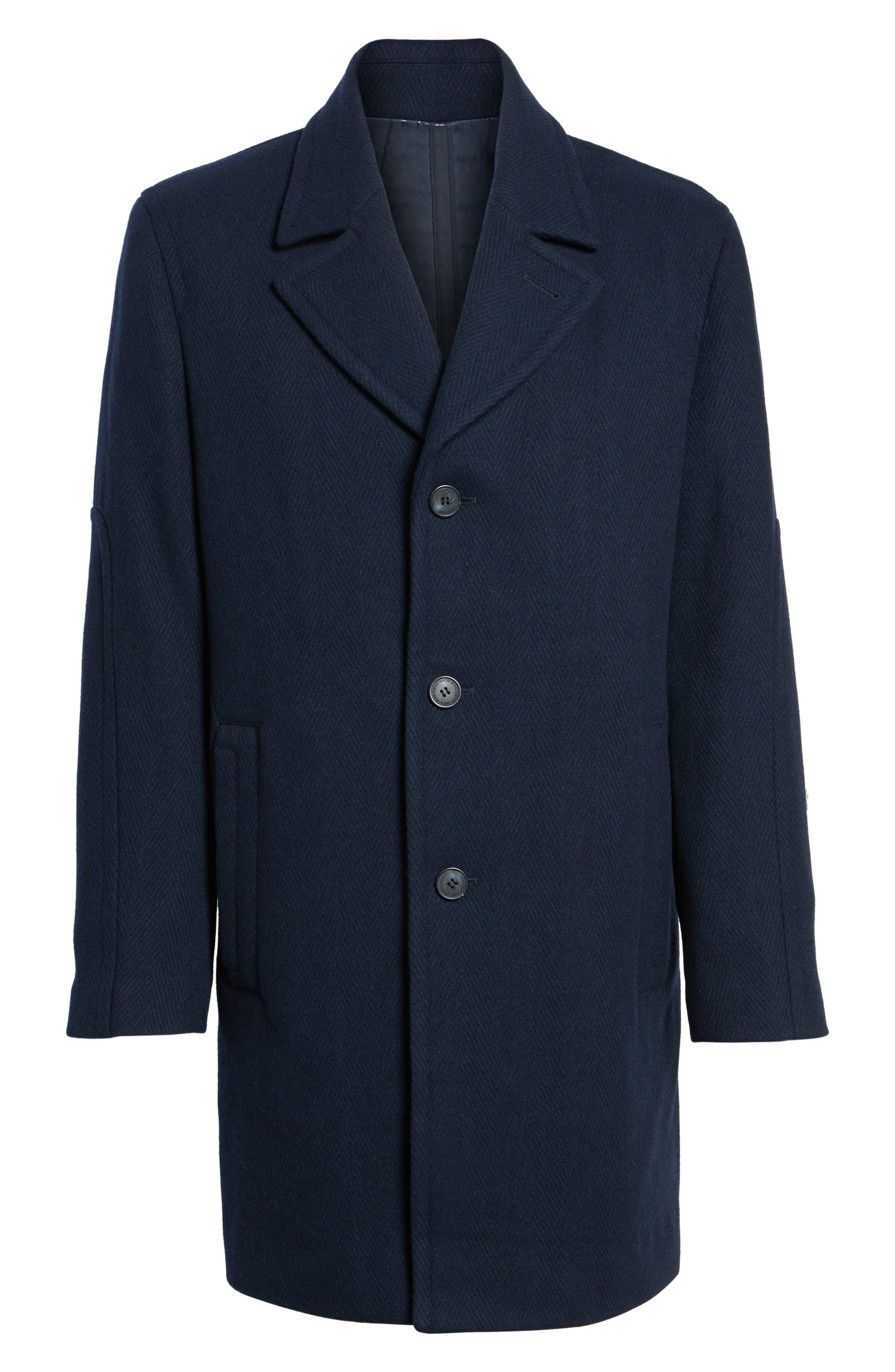 Herringbone Wool Blend Car Coat,                             Alternate thumbnail 10, color,